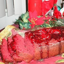 Christmas Strawberry Bread Betty