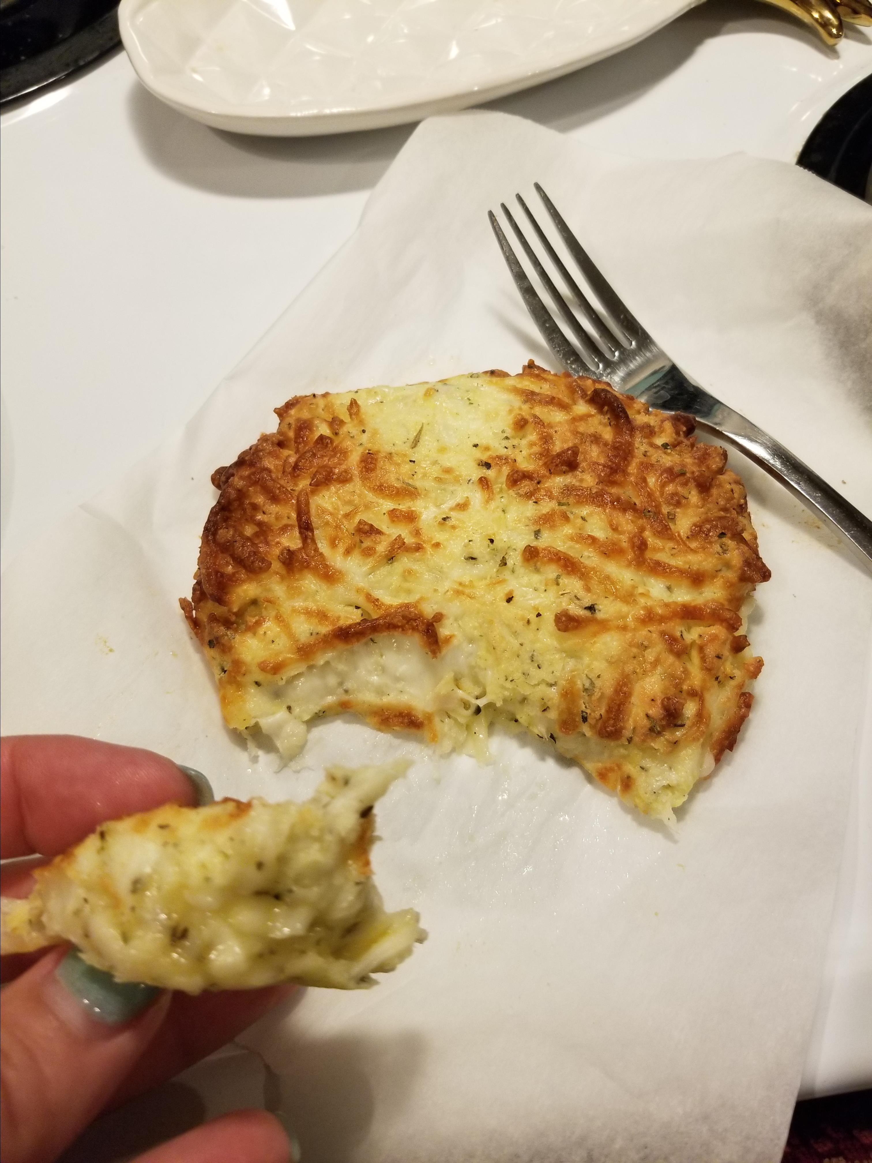 Air Fryer Keto Garlic Cheese 'Bread' Kristen Ray