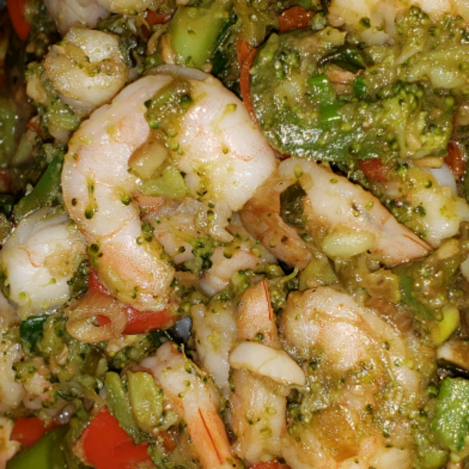 Utokia's Ginger Shrimp and Broccoli with Garlic