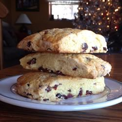 Cranberry Eggnog Cornbread Scones Candace Gallagher