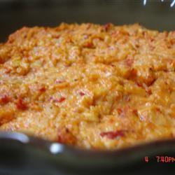 Hot Feta, Artichoke and Roasted Red Pepper Dip FarmingFabulously
