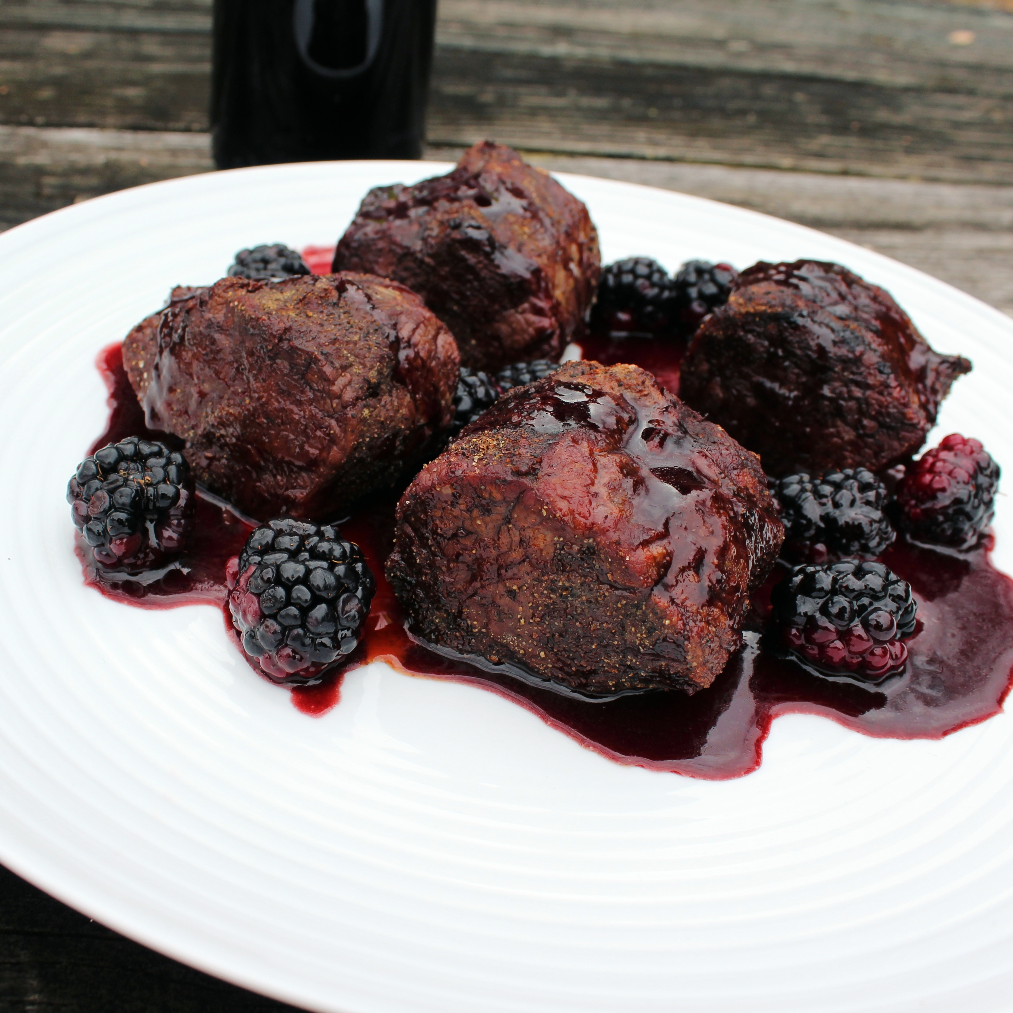Venison with Blackberry Wine Sauce Chef Mo
