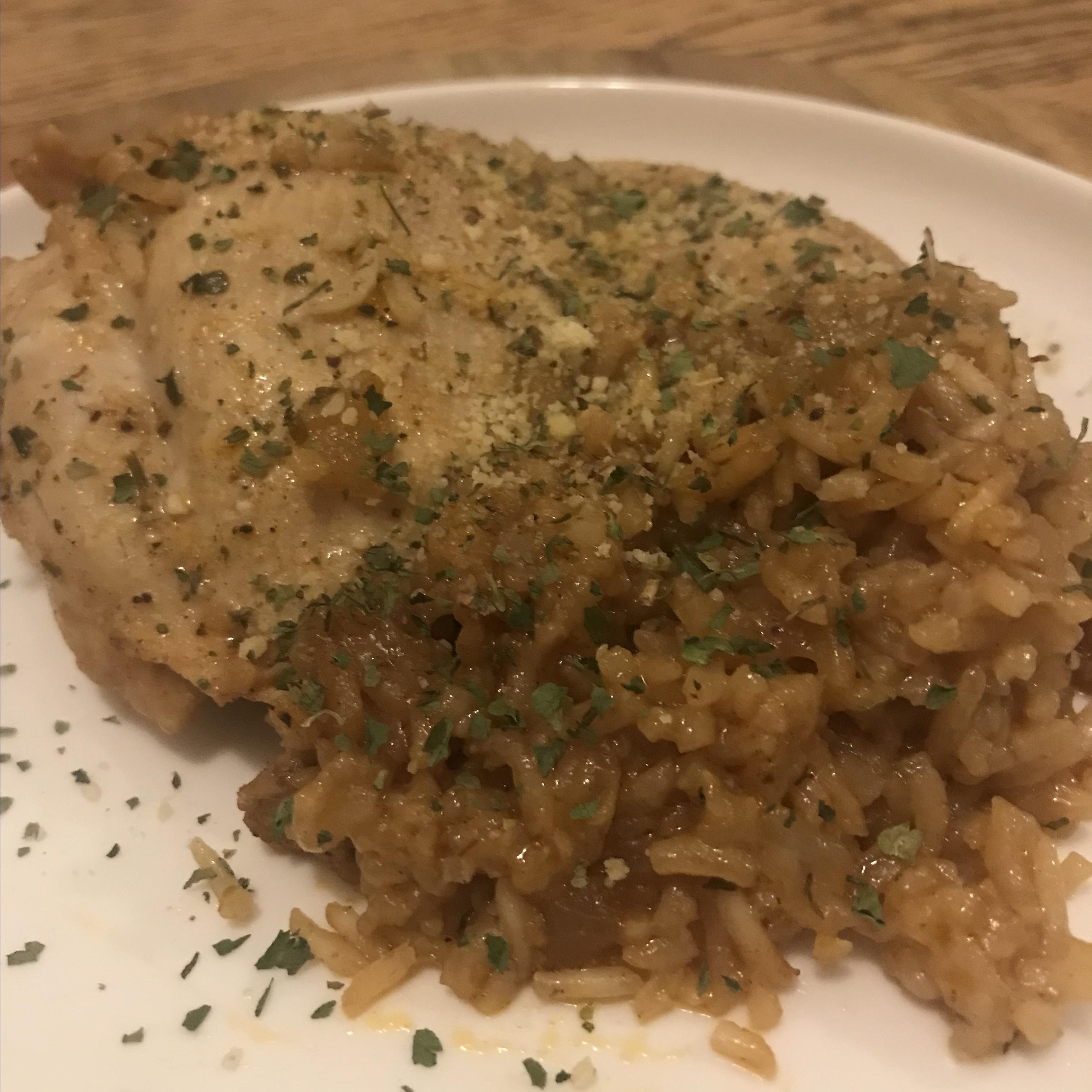 Instant Pot® Garlic-Herb Chicken and Rice