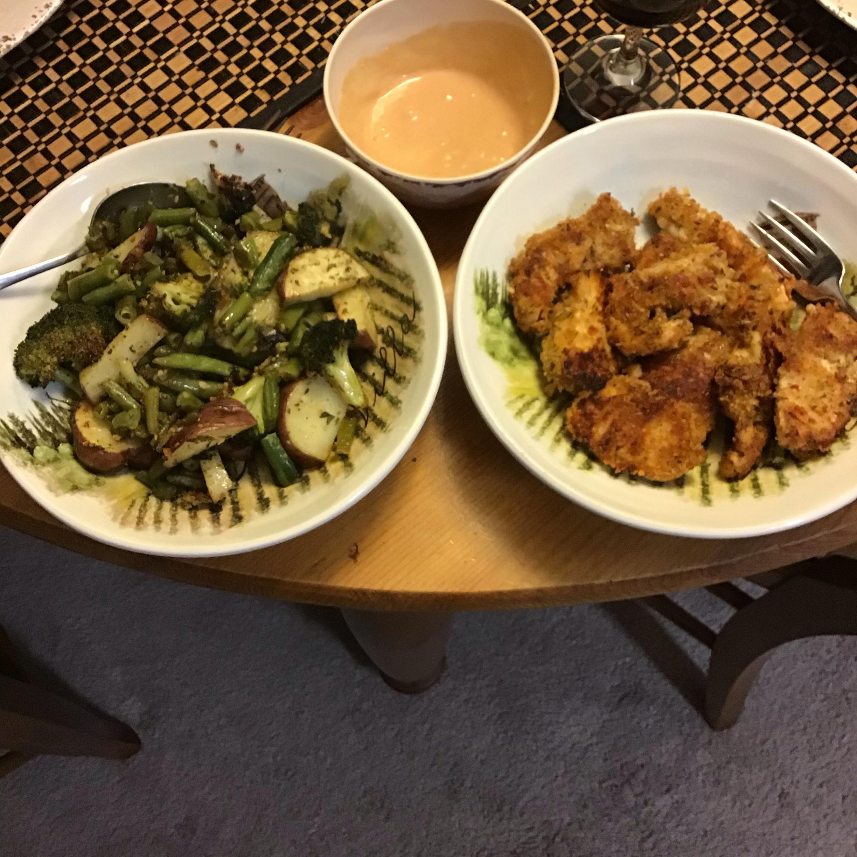 Sheet Pan Parmesan Chicken and Veggies