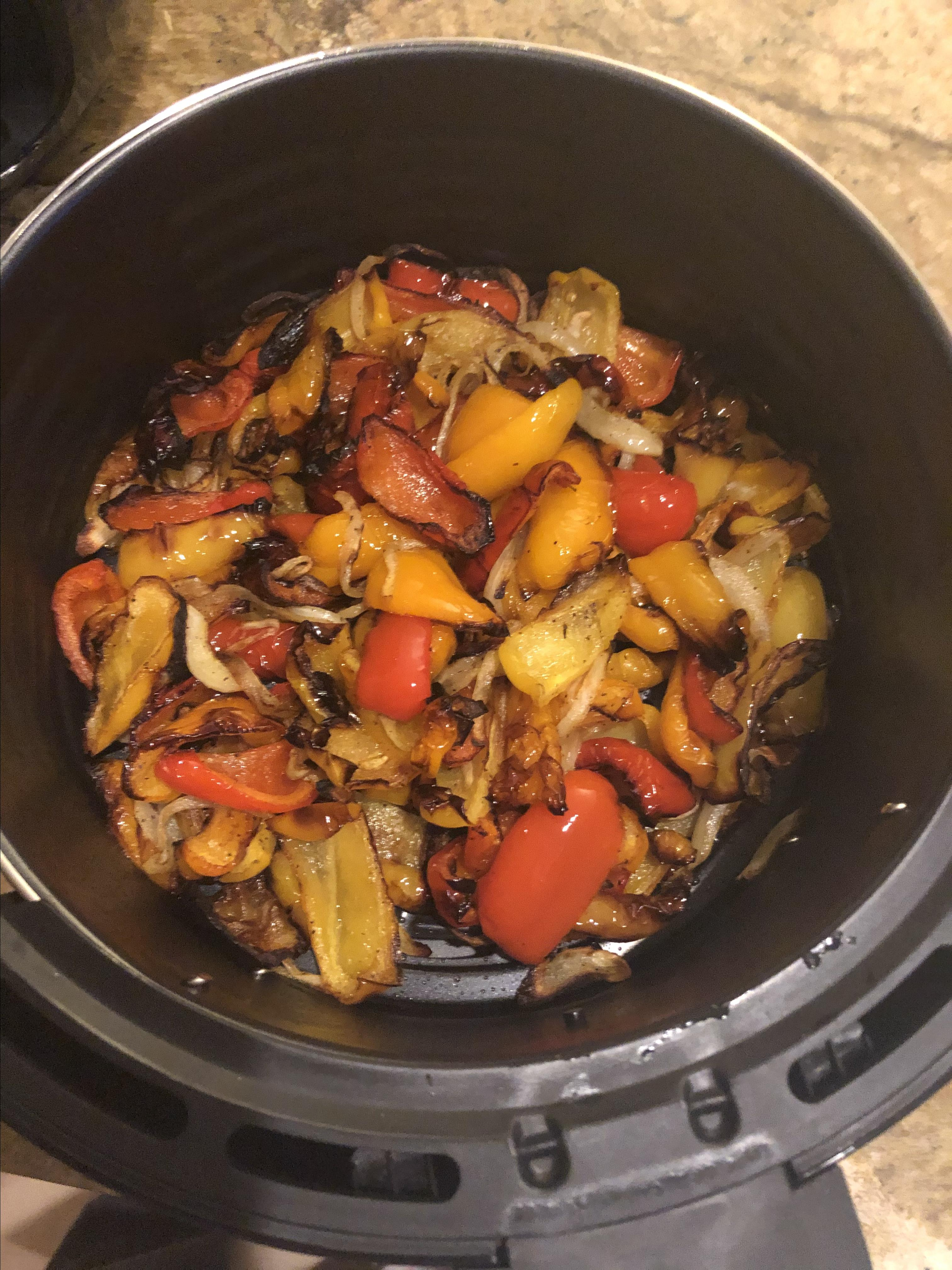 Air-Fried Roasted Sweet Peppers and Onions Anna Gioia