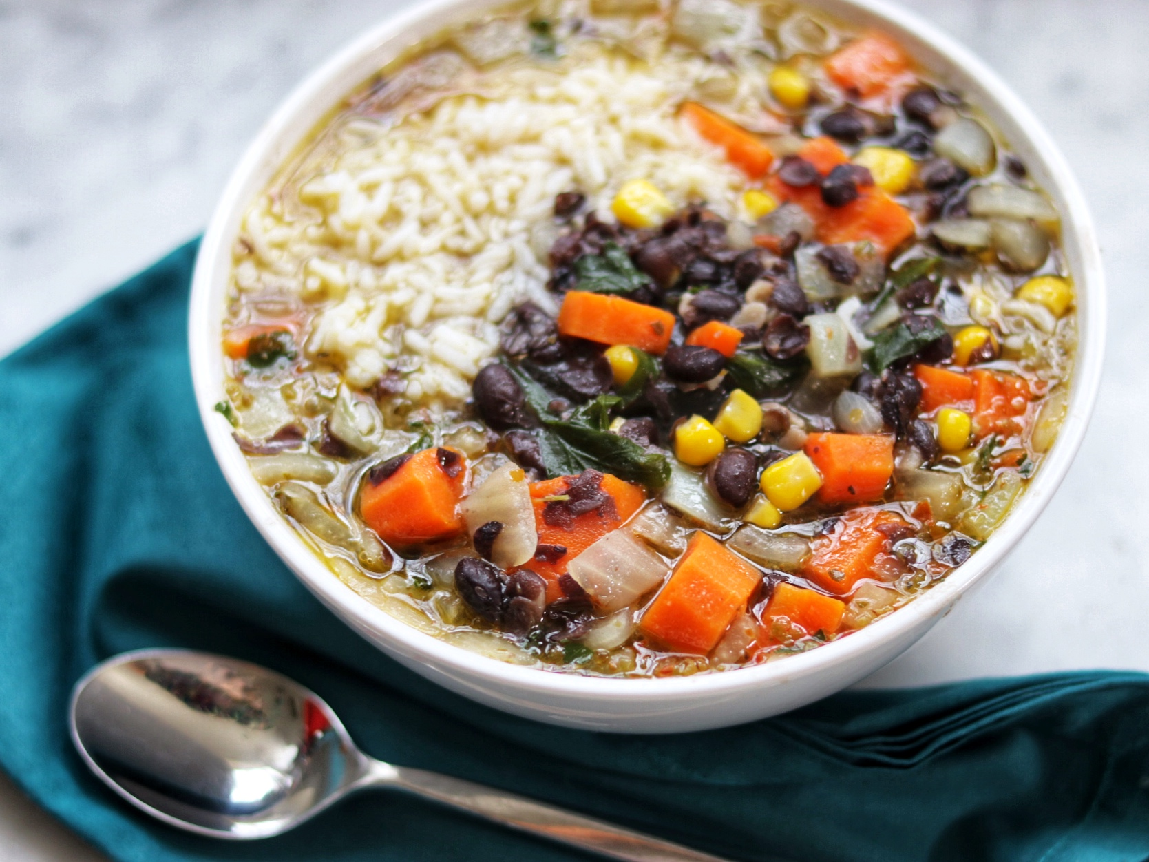Quick Spicy Black Bean Soup