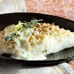 Almond-Crusted Halibut Crystal Symphony