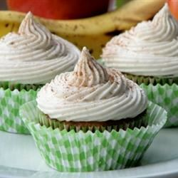 Apple Banana Cupcakes mominml