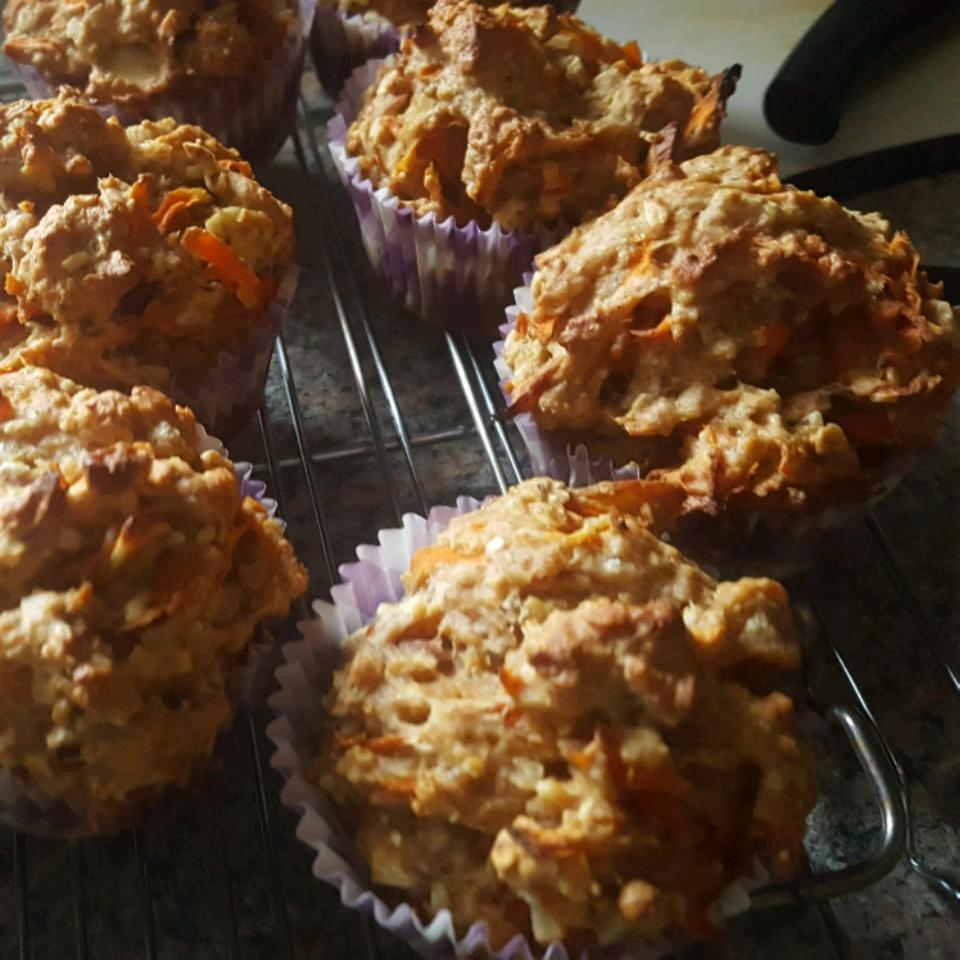 Carrot Morning Glory Muffins (Gluten Free Optional)