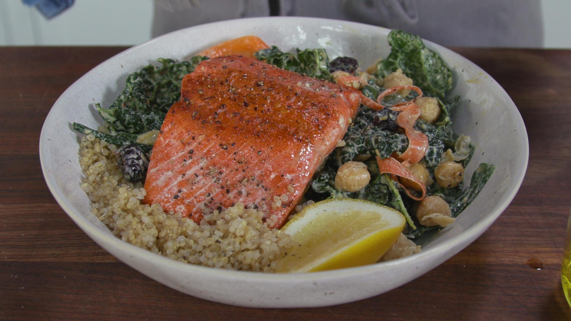 Salmon Quinoa Bowl