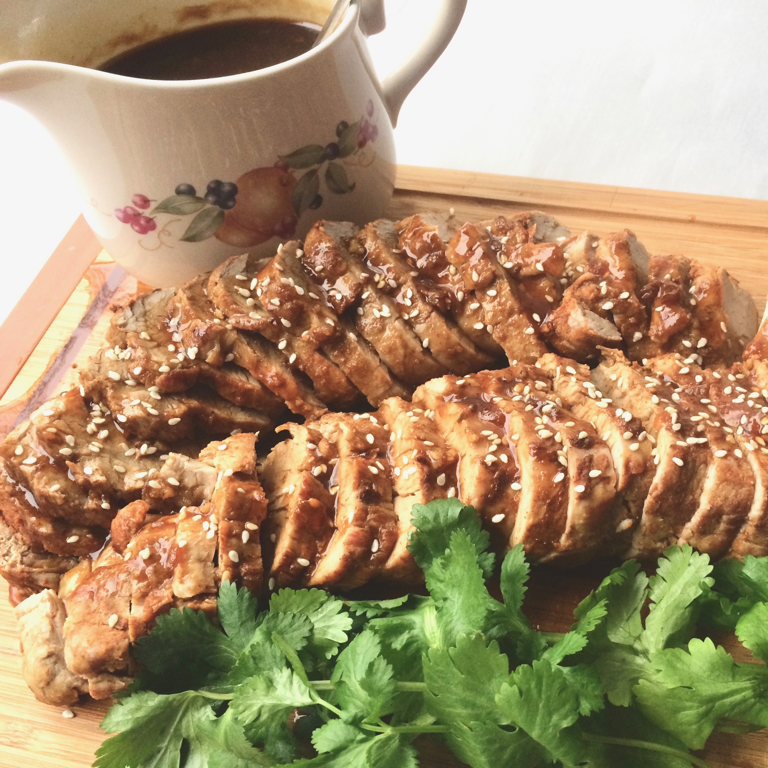 "Spice-rubbed tenderloins cook in mere minutes in the Instant Pot! You'll finish with an Asian-inspired glaze that's spicy and sweet. ""This recipe comes together in a snap, and it all cooks in the Instant Pot!"" says Bibi."