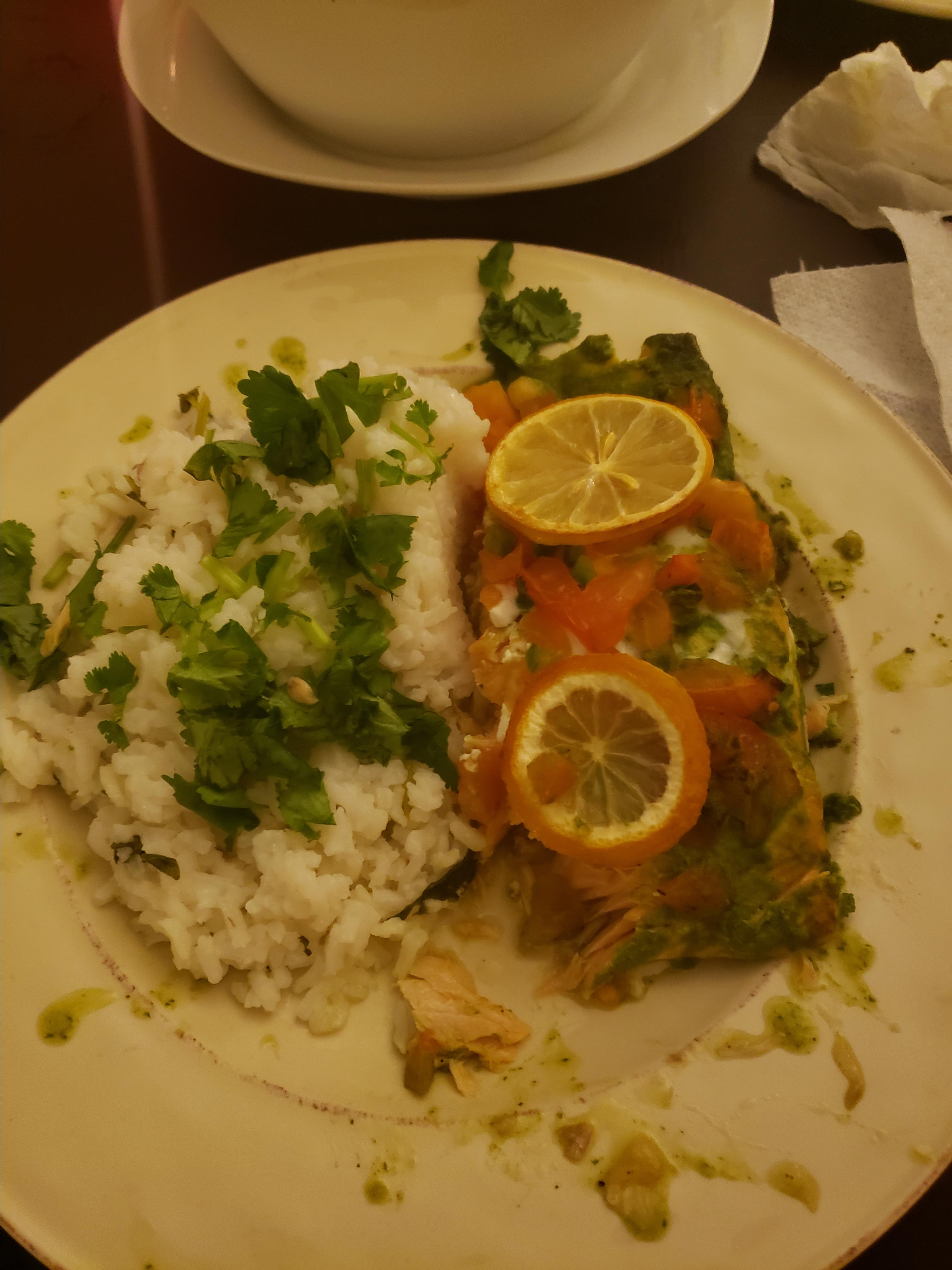 Salmon Fillet with Cilantro, Lime, and Jalapeno epimenio gonzalez