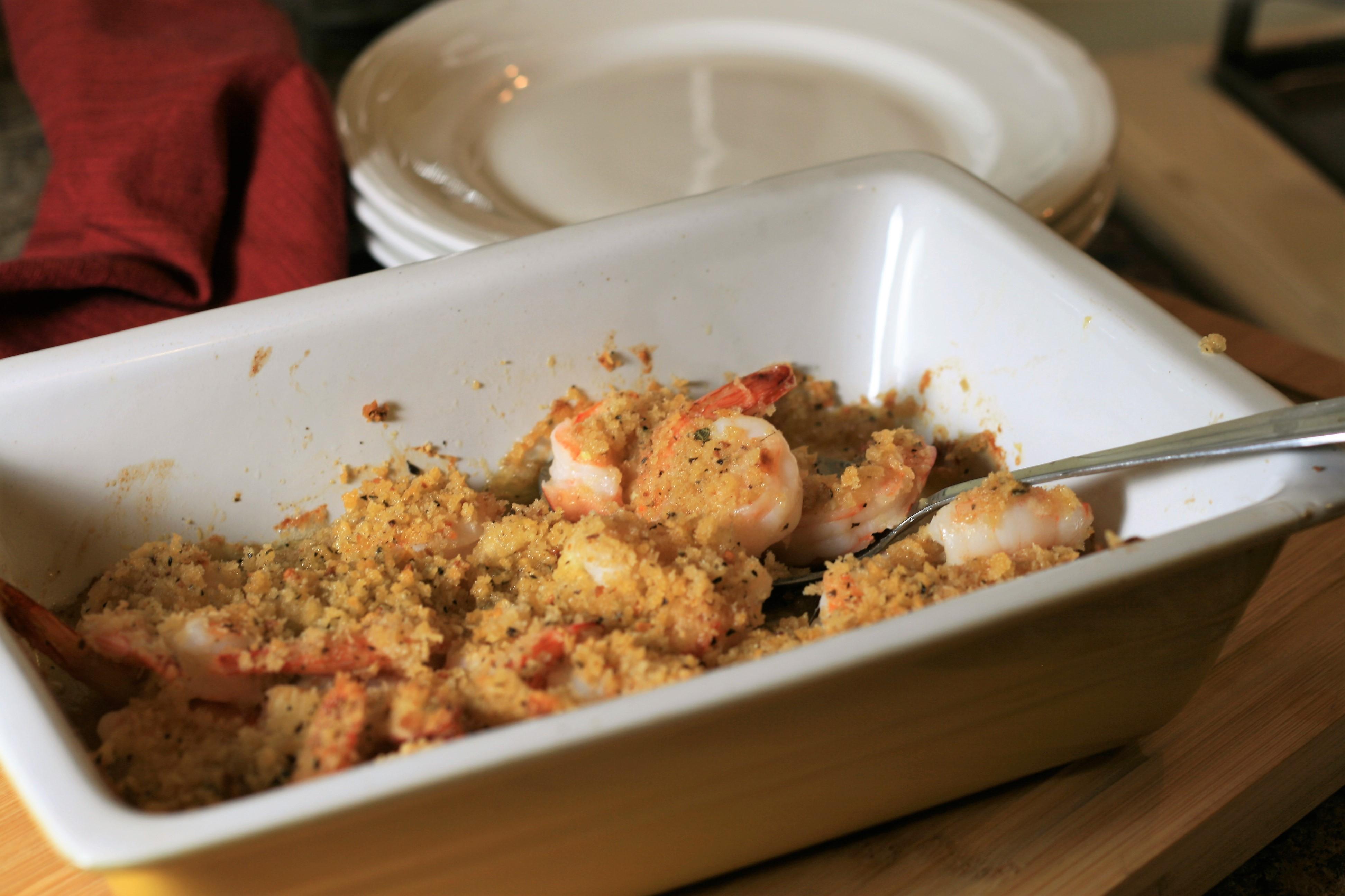 Garlic Parmesan Baked Shrimp