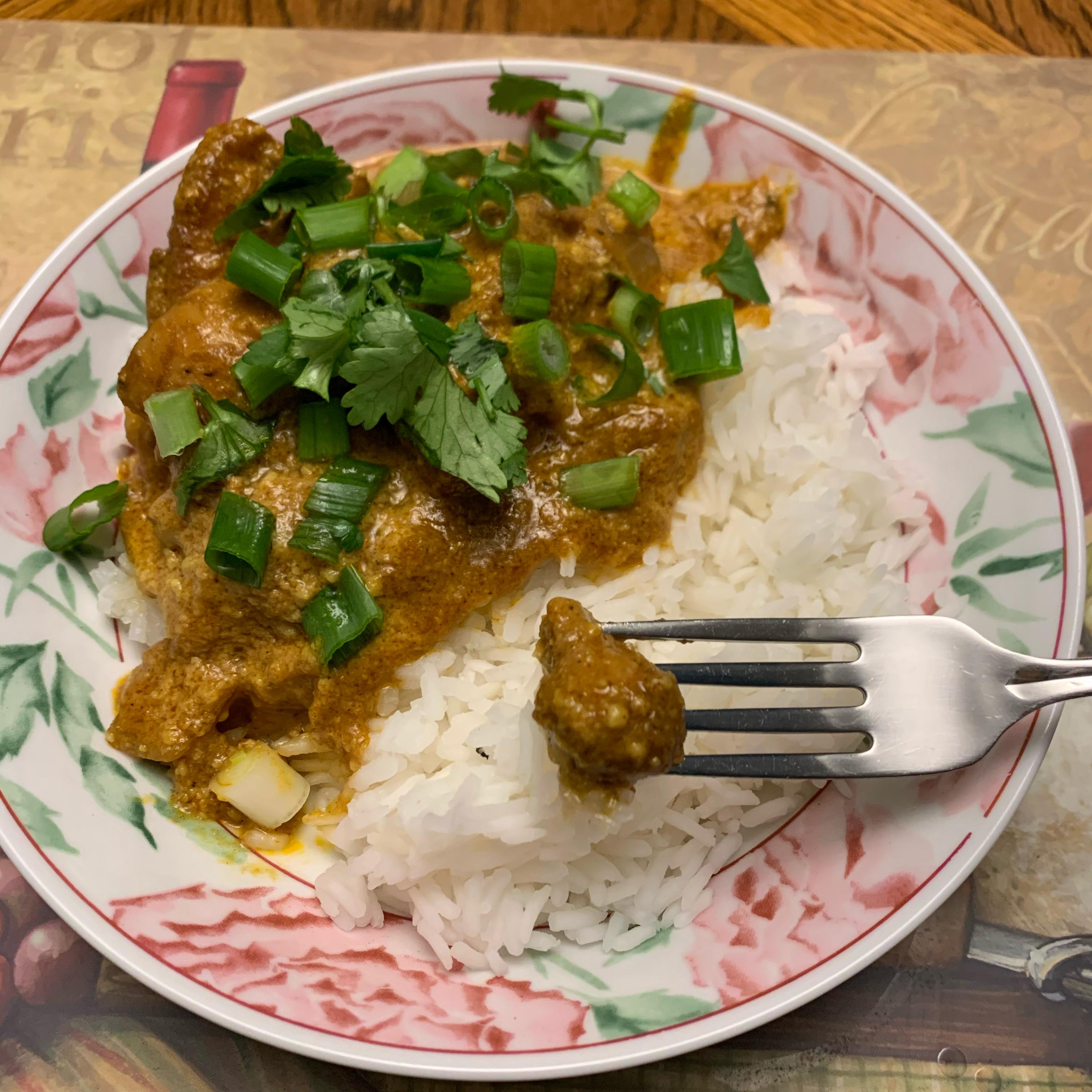 Creamy Cashew Chicken Curry LizLiz