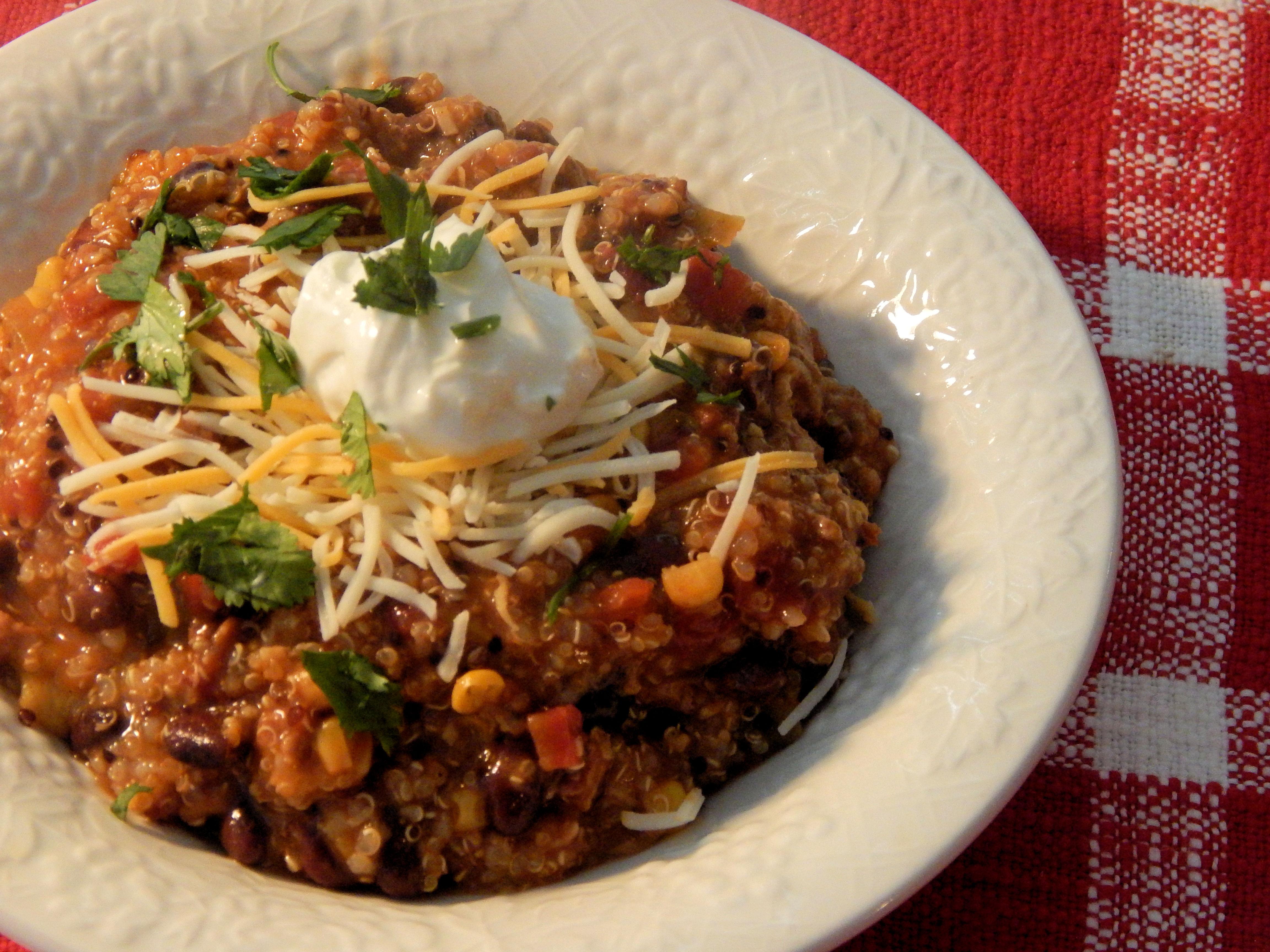 Ground Turkey Enchilada Stew with Quinoa