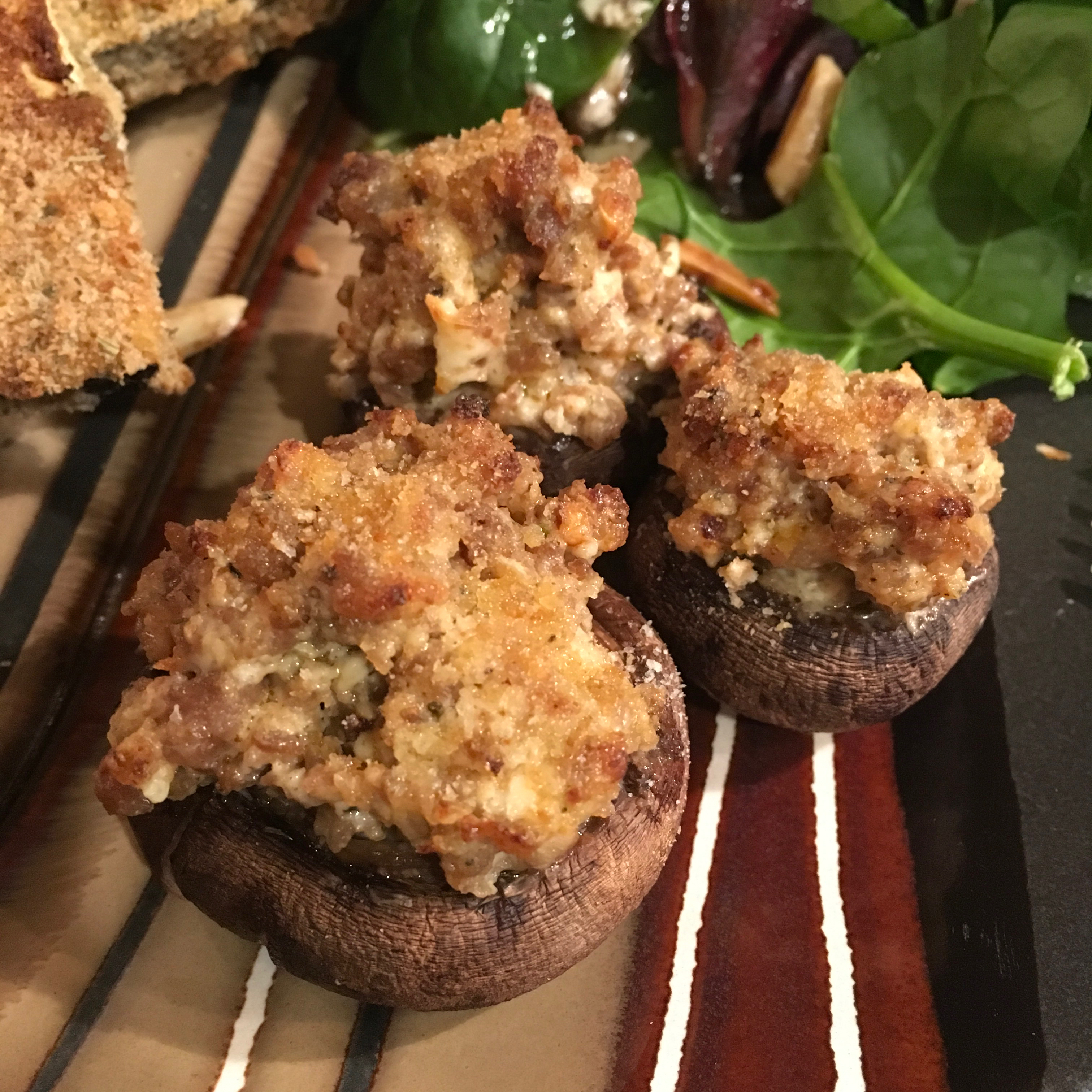 Sausage Stuffed Mushrooms II