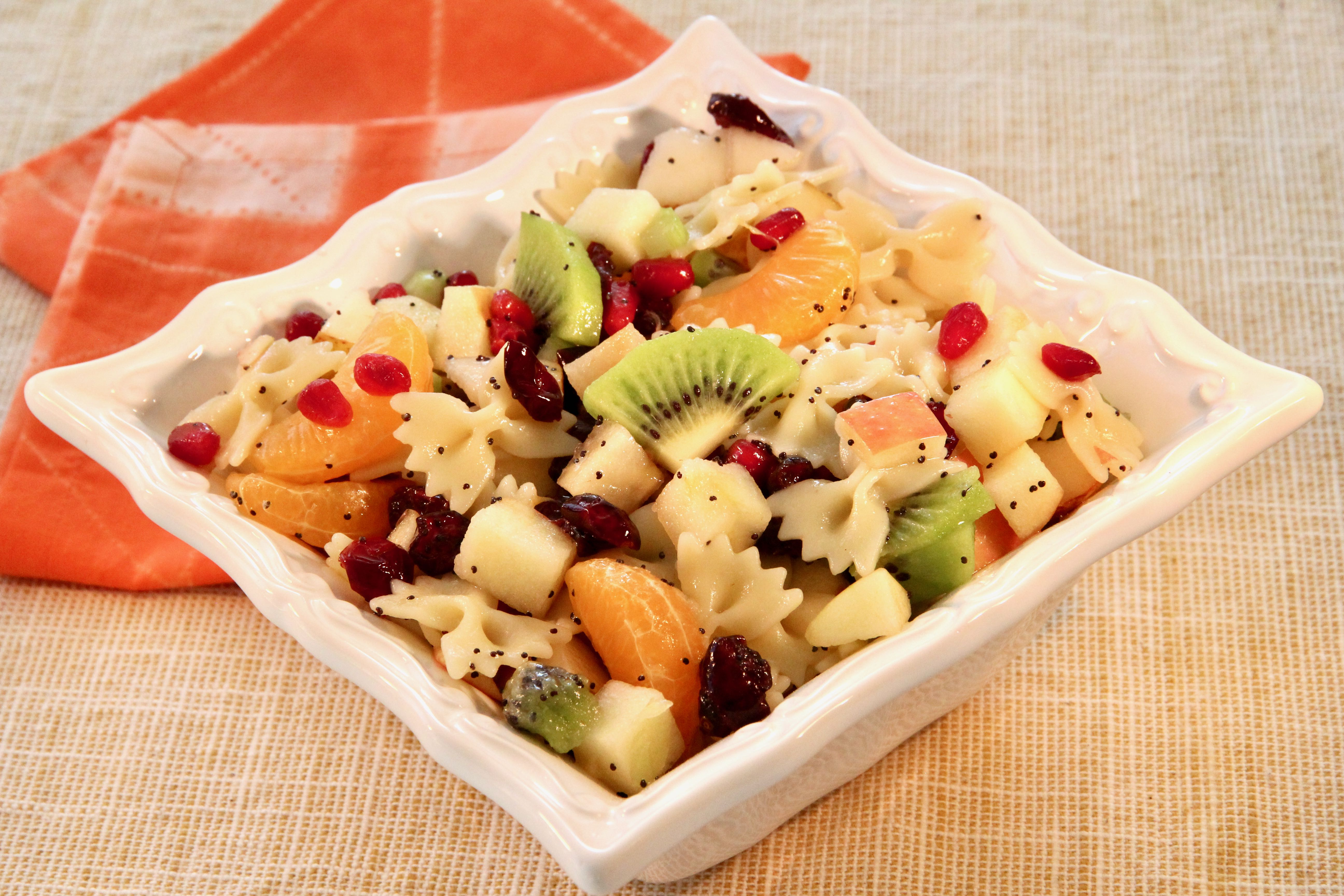Winter Fruit and Pasta Salad