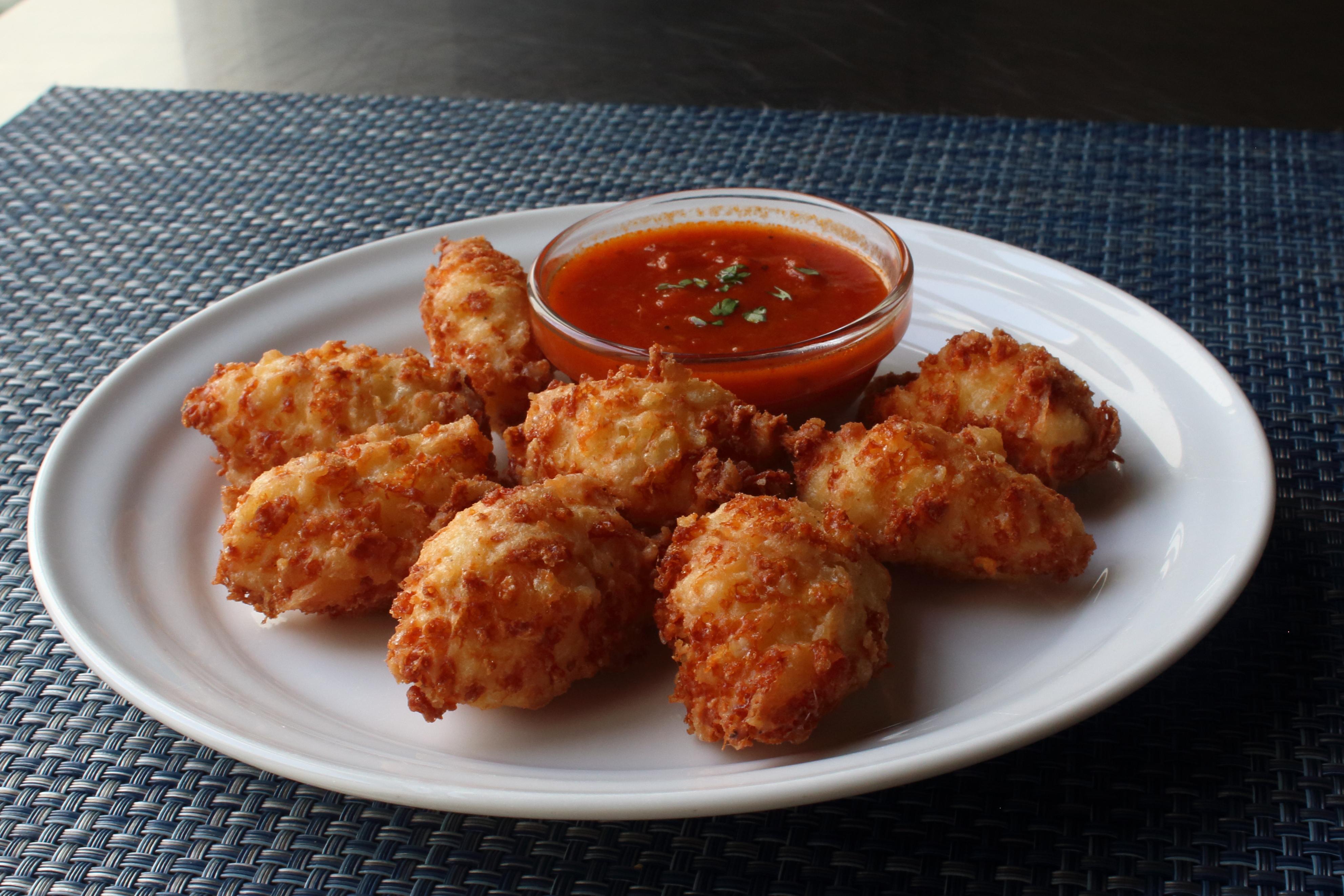 Fried Mozzarella Puffs
