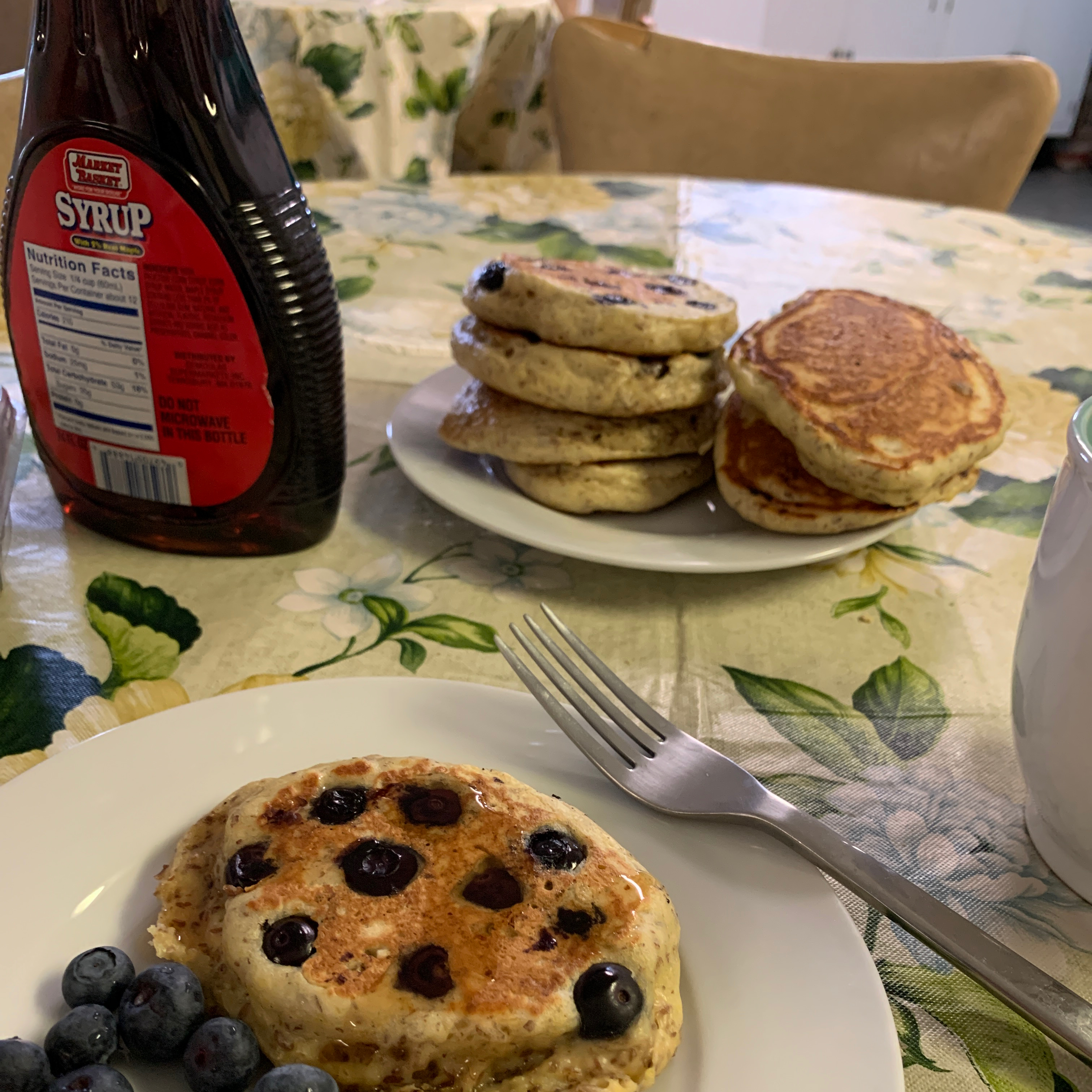 Blueberry Flax Pancakes Mary Catherine Wahba