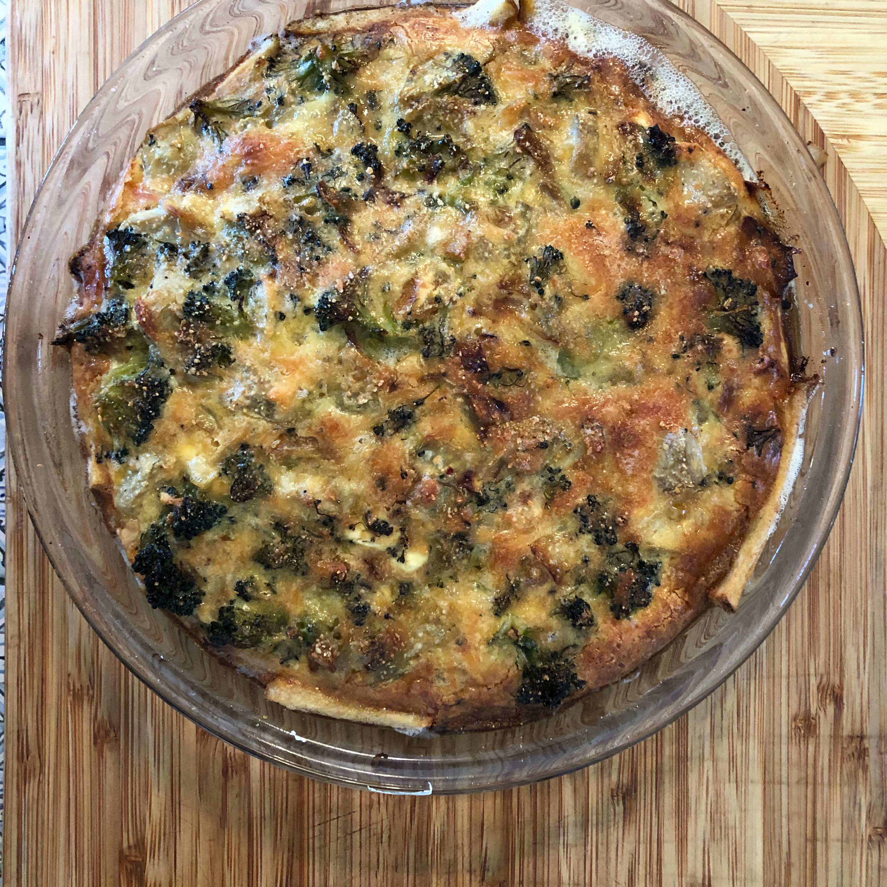 Ham and Broccoli Quiche with Hash Brown Crust ShoreChef