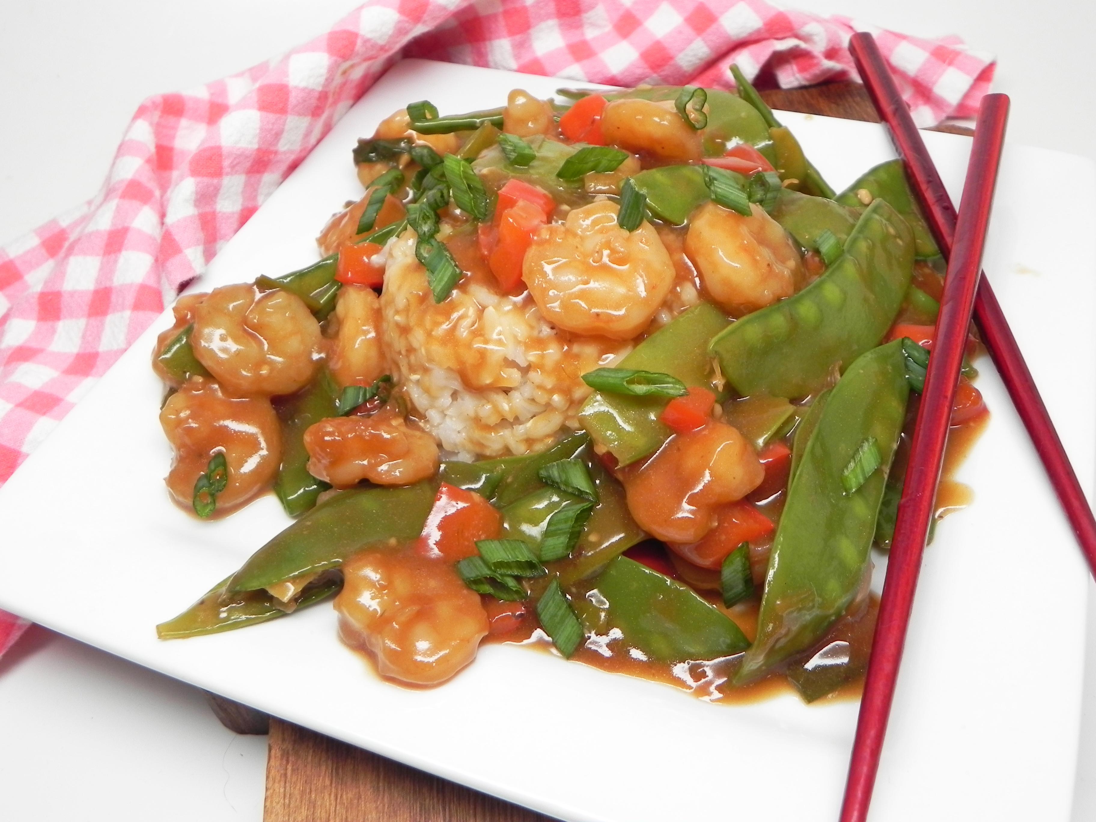 Sesame Shrimp and Snow Peas Stir-Fry