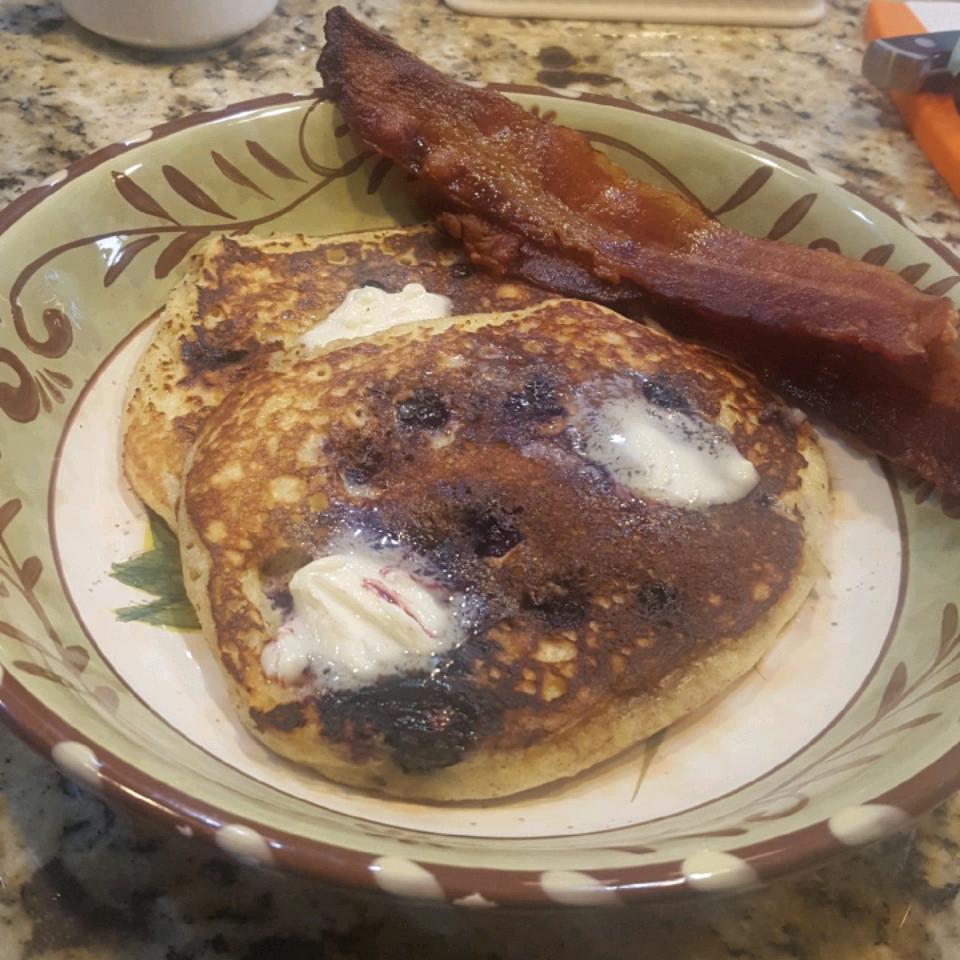 Blueberry Almond Pancakes Dolores Baca