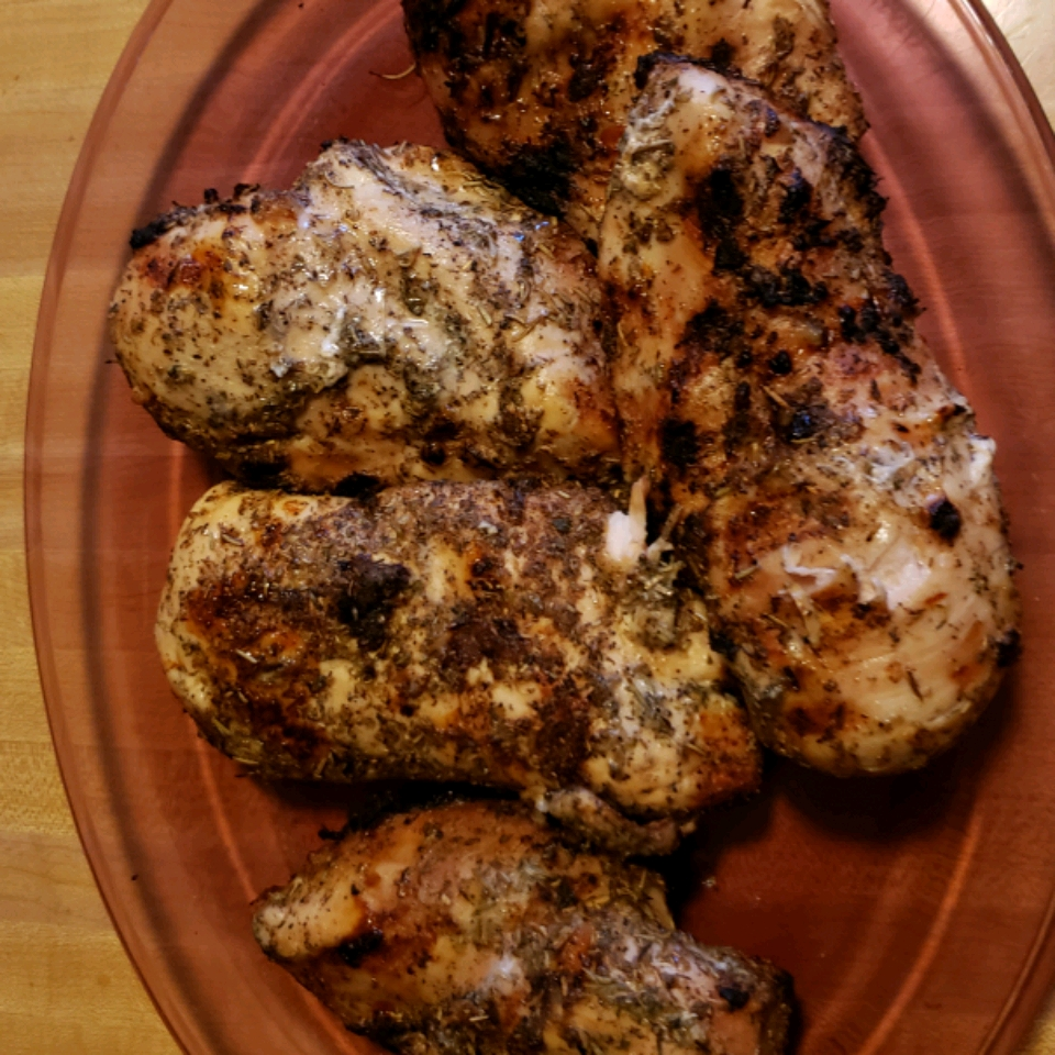 Grilled Chicken and Herbs
