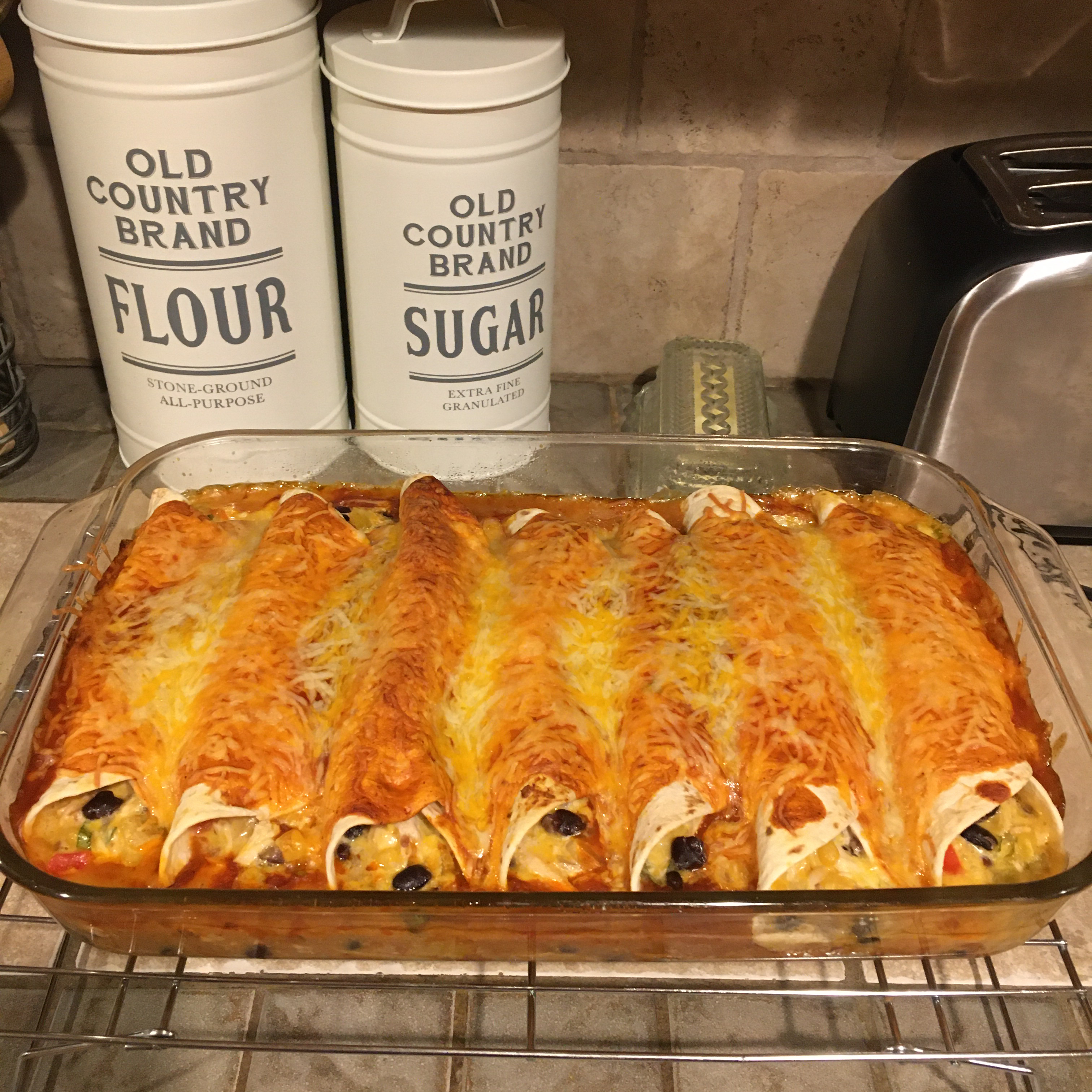Fiesta Chicken and Black Bean Enchiladas from Mission® Mission Foods
