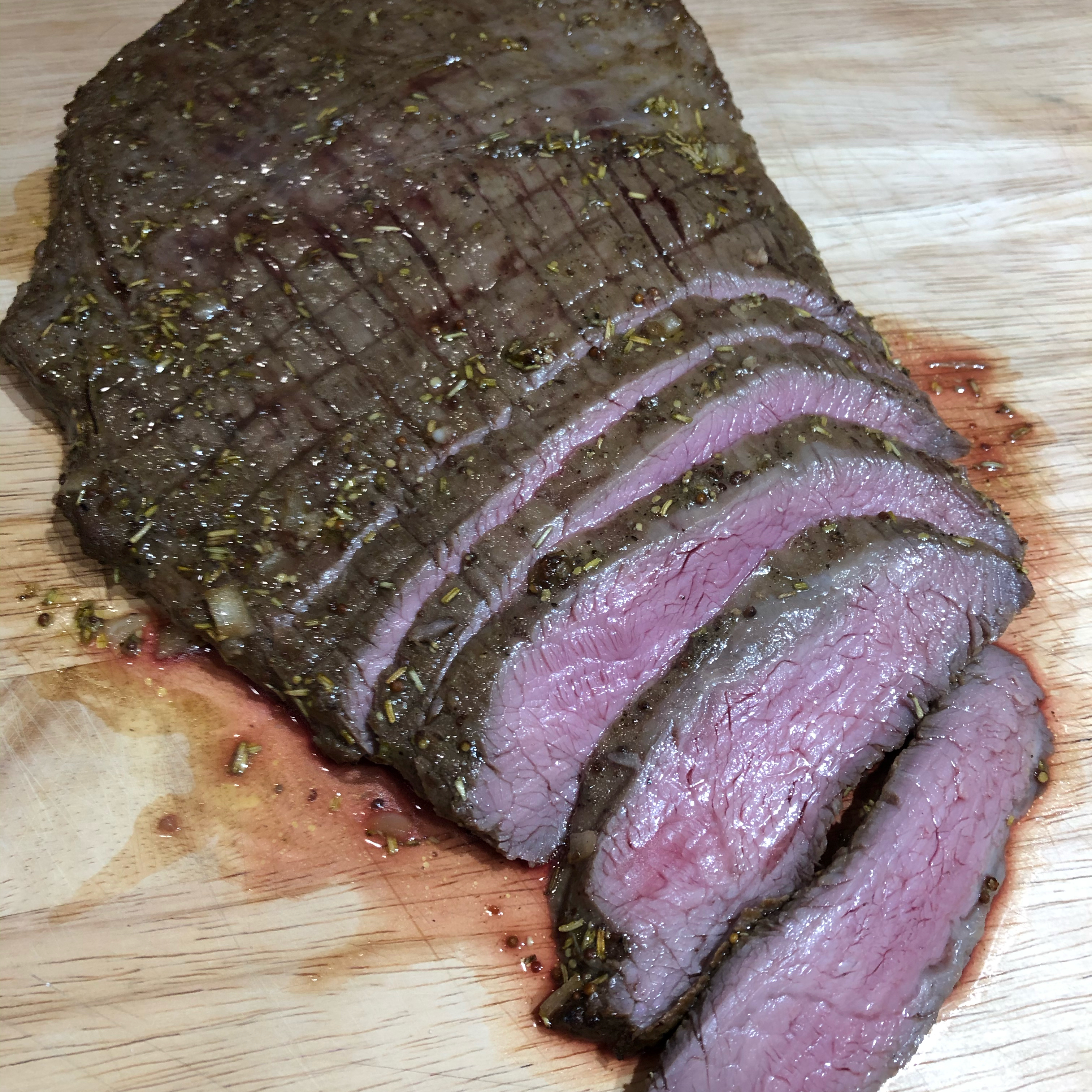Grilled Balsamic and Soy Marinated Flank Steak wiebepo