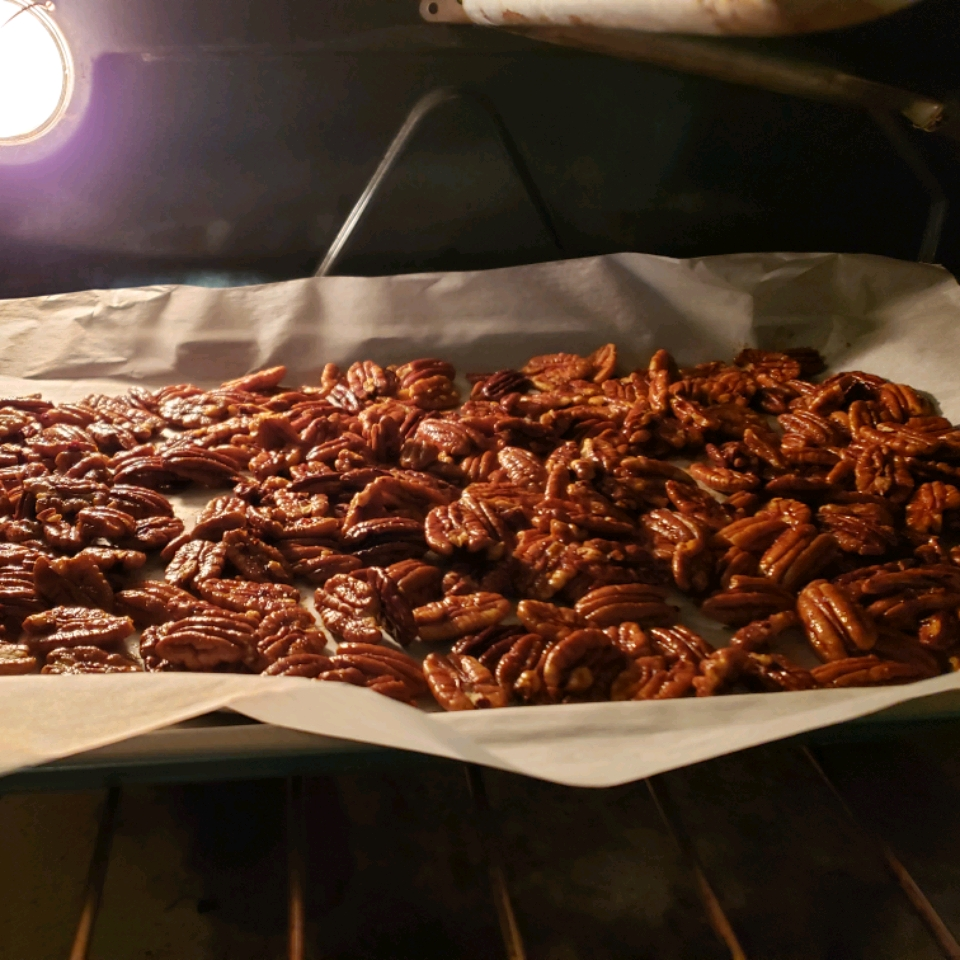 Hot and Spicy Pecans KELLY BENSON