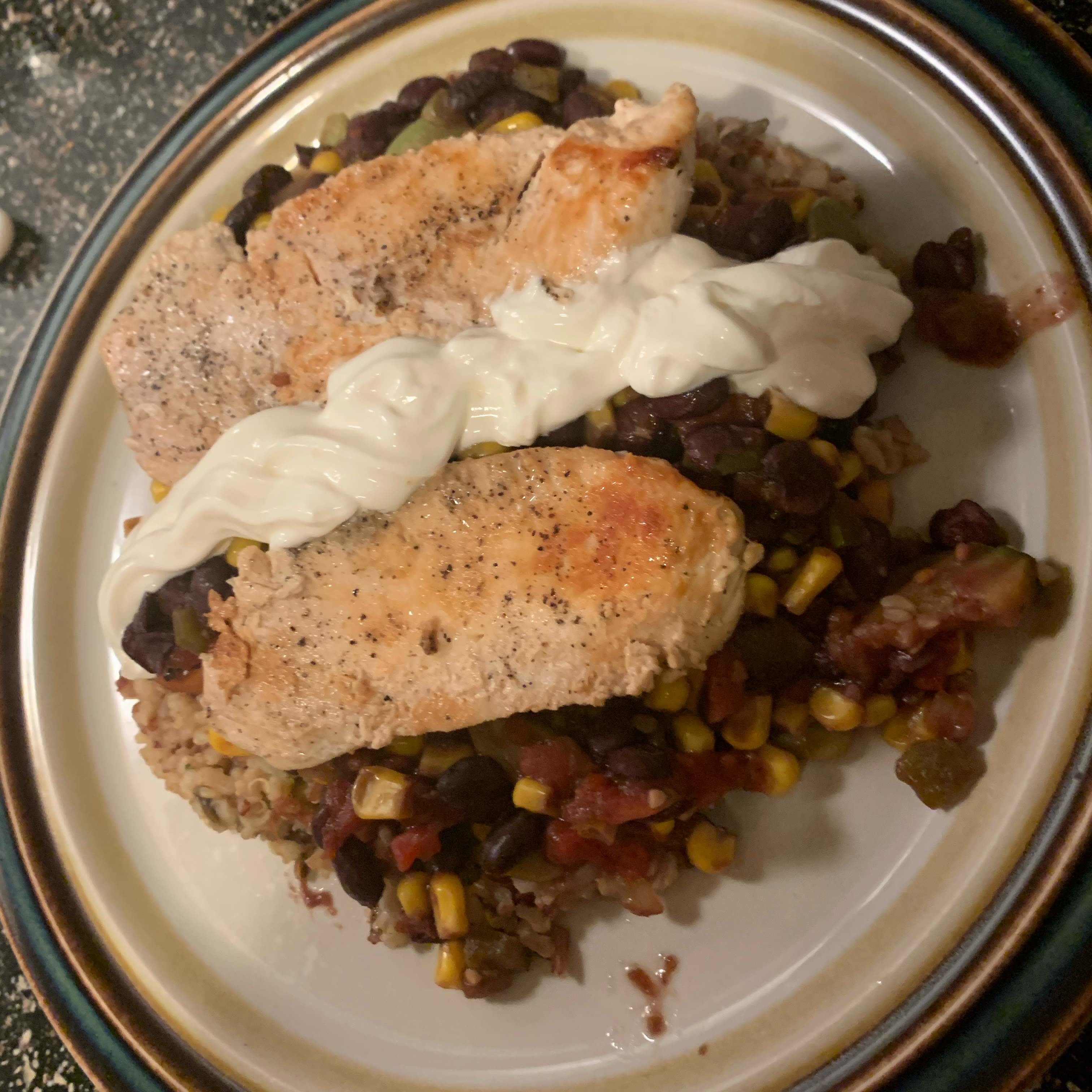 Fast Chicken Over Black Beans and Rice TonyBoyd