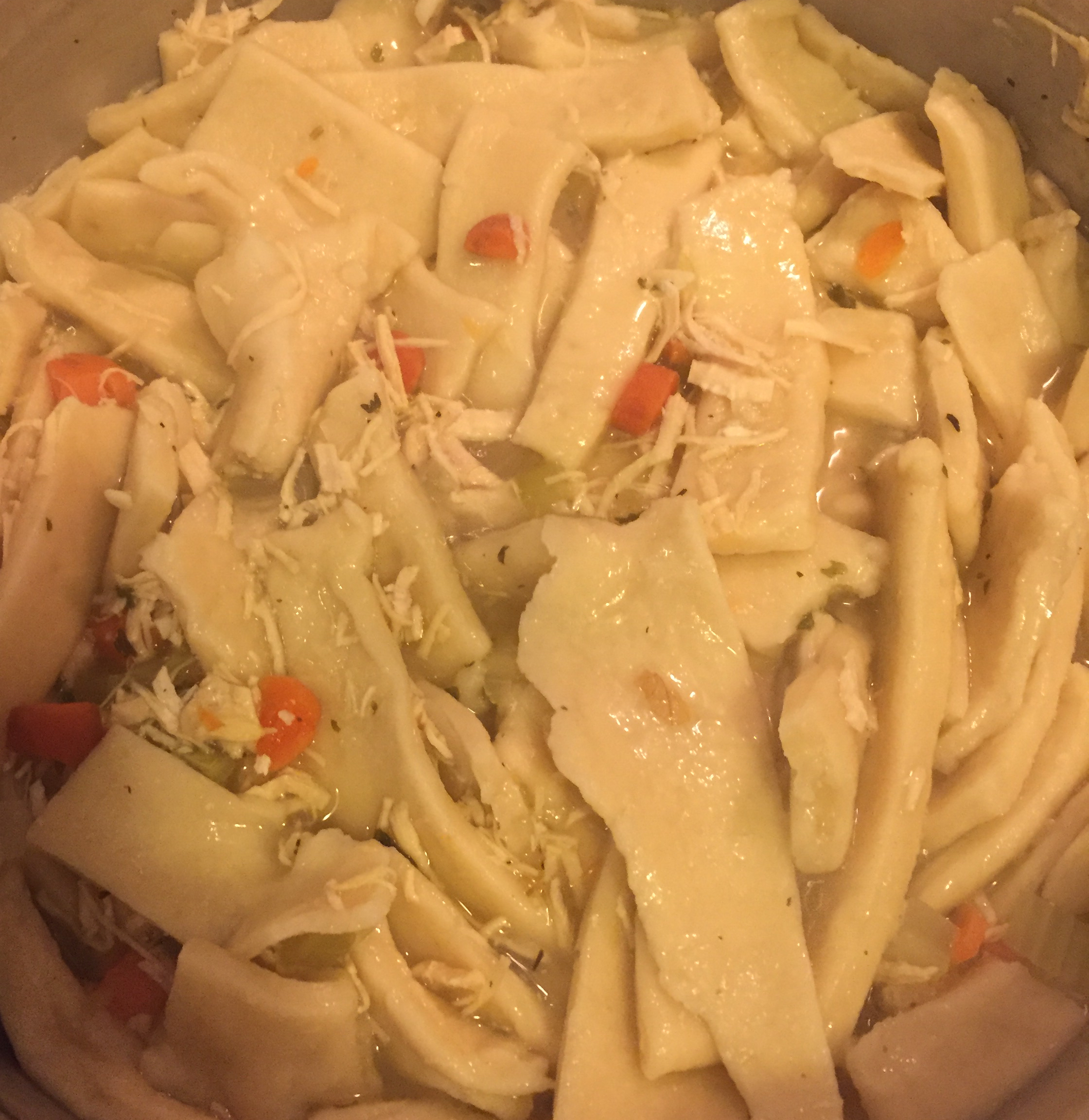 Grandma's Chicken Soup with Homemade Noodles Brenda Alther-Maginity