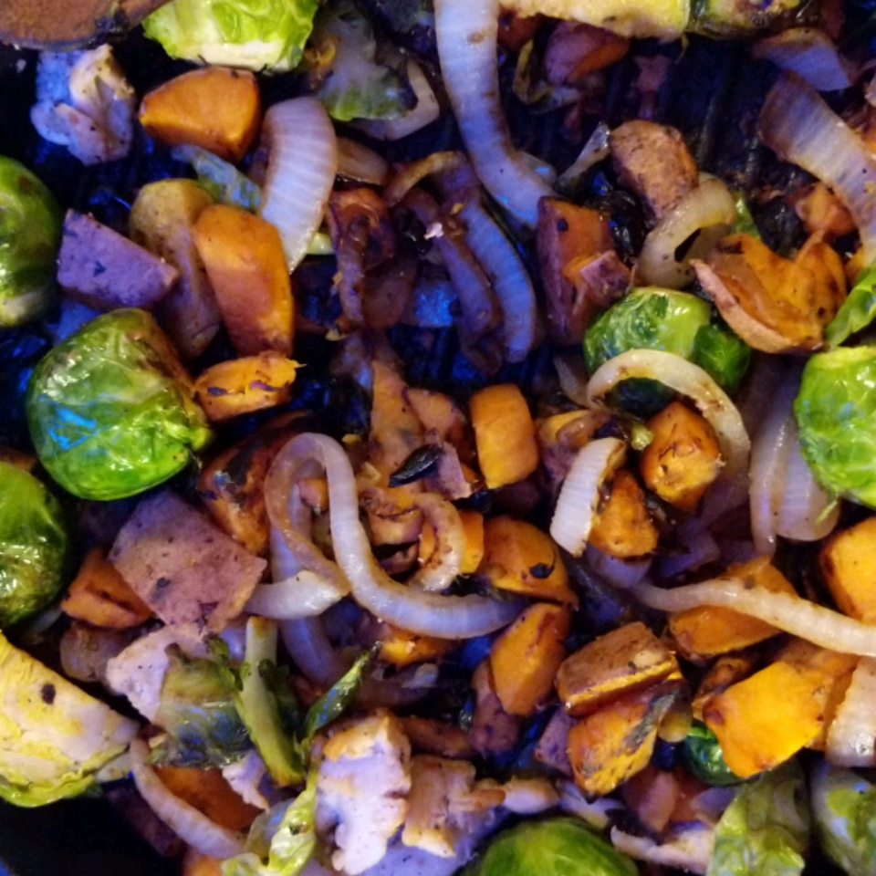 Chicken with Brussels Sprouts & Butternut Squash Skillet Dinner Jessica Baer