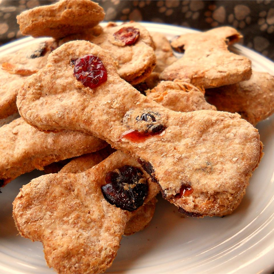 """Great for holiday snacking, these treats include seasonal favorites like turkey and cranberries. """"My dogs love these,"""" says CookinBug. """"I also packaged them up for the holidays to give away and got lots of rave reviews from other dog owners."""""""