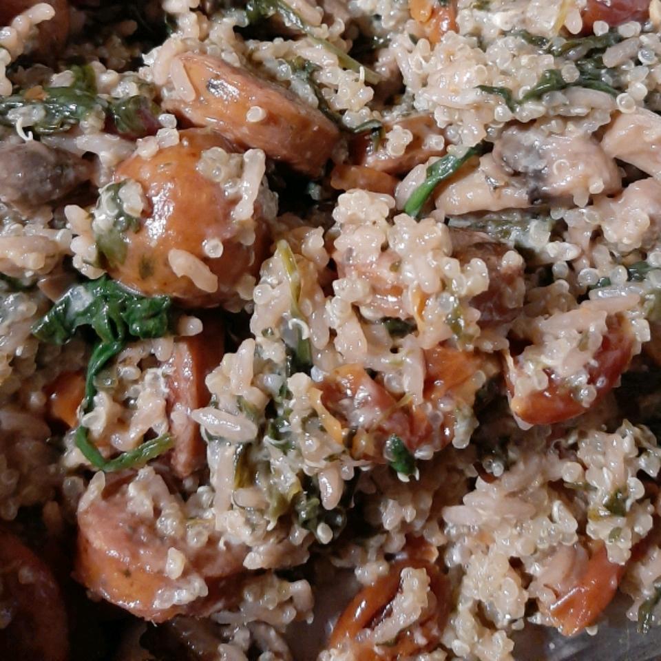 Farro, Sausage, and Spinach Dinner Samantha Brown