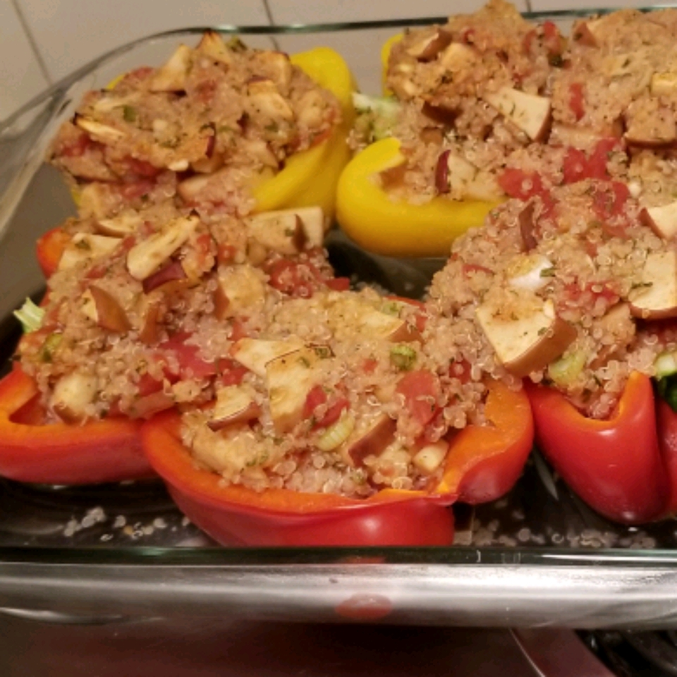 Vegetarian Stuffed Red Bell Peppers BC1209