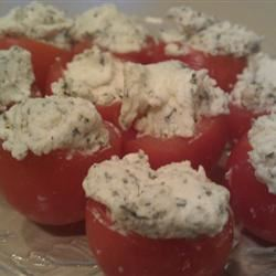 Cherry Tomatoes Filled with Goat Cheese MBKRH