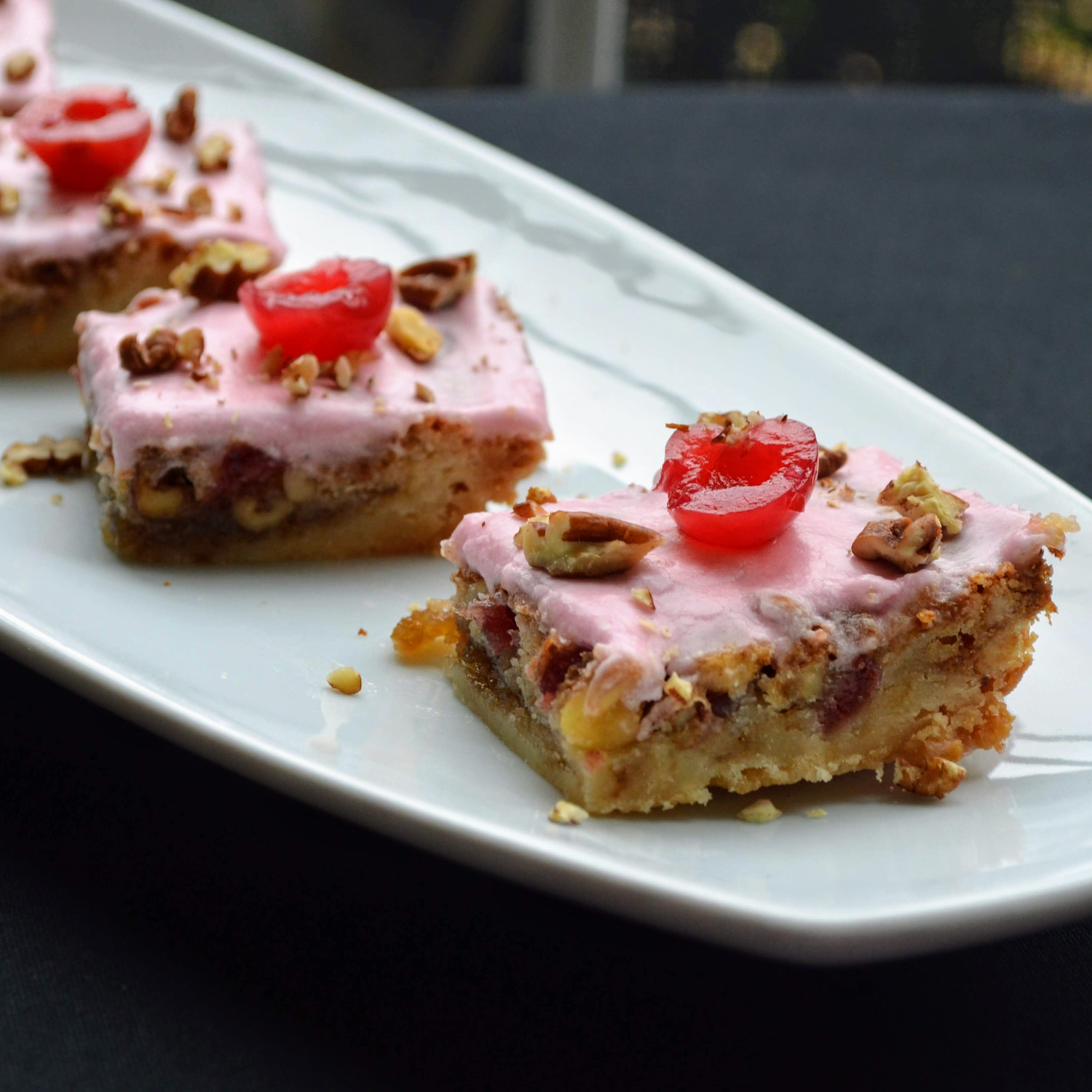Cherry Shortbread Bars Anya