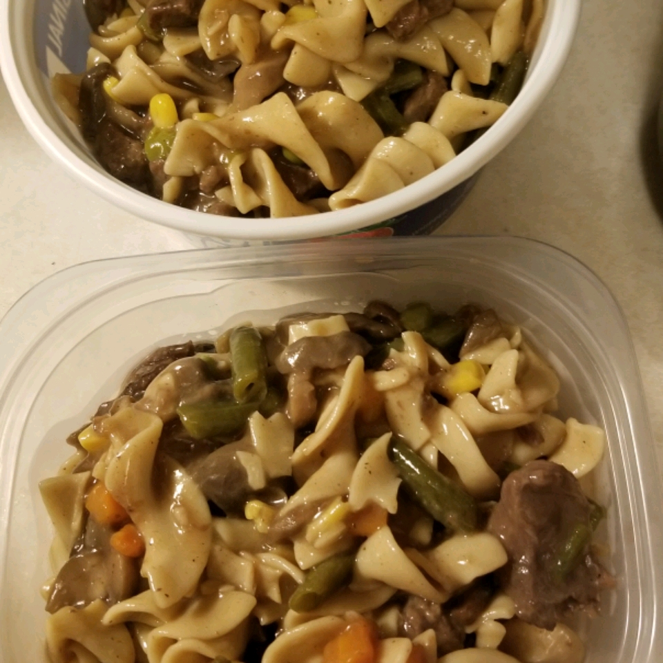 Simple Beef Tips and Noodles