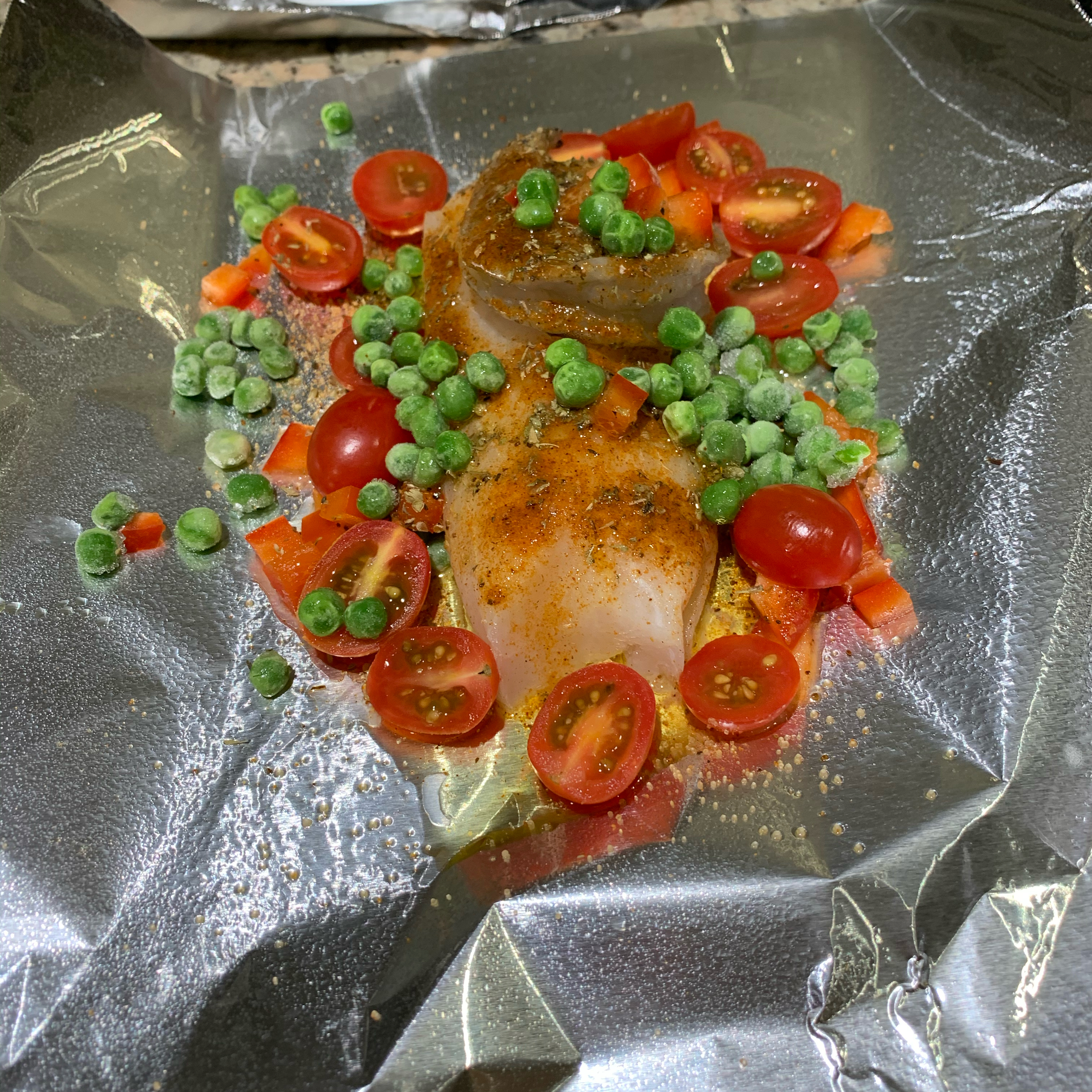 Baked Cod in Foil Woodrow