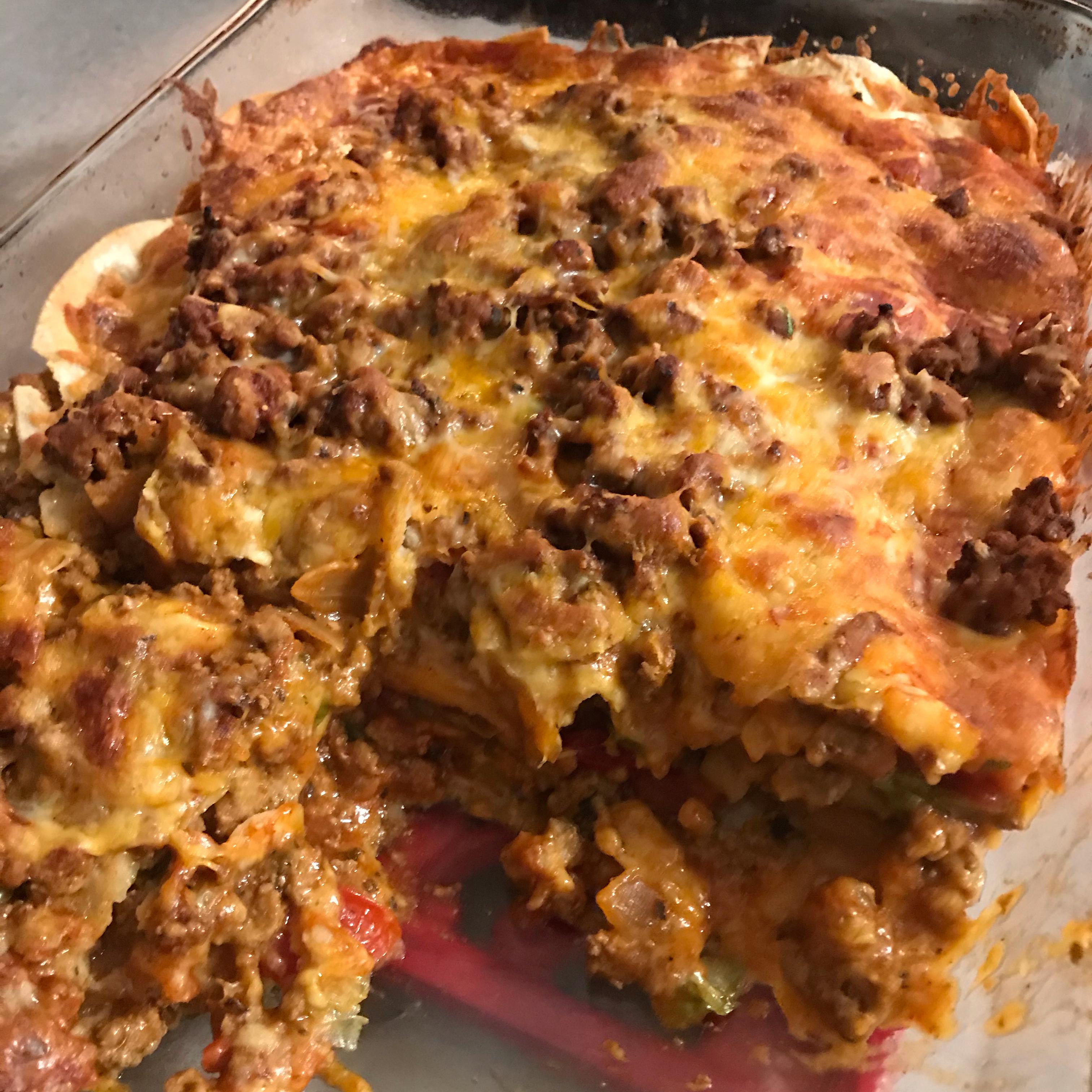 Mexican Enchilada Casserole Lauren Beras