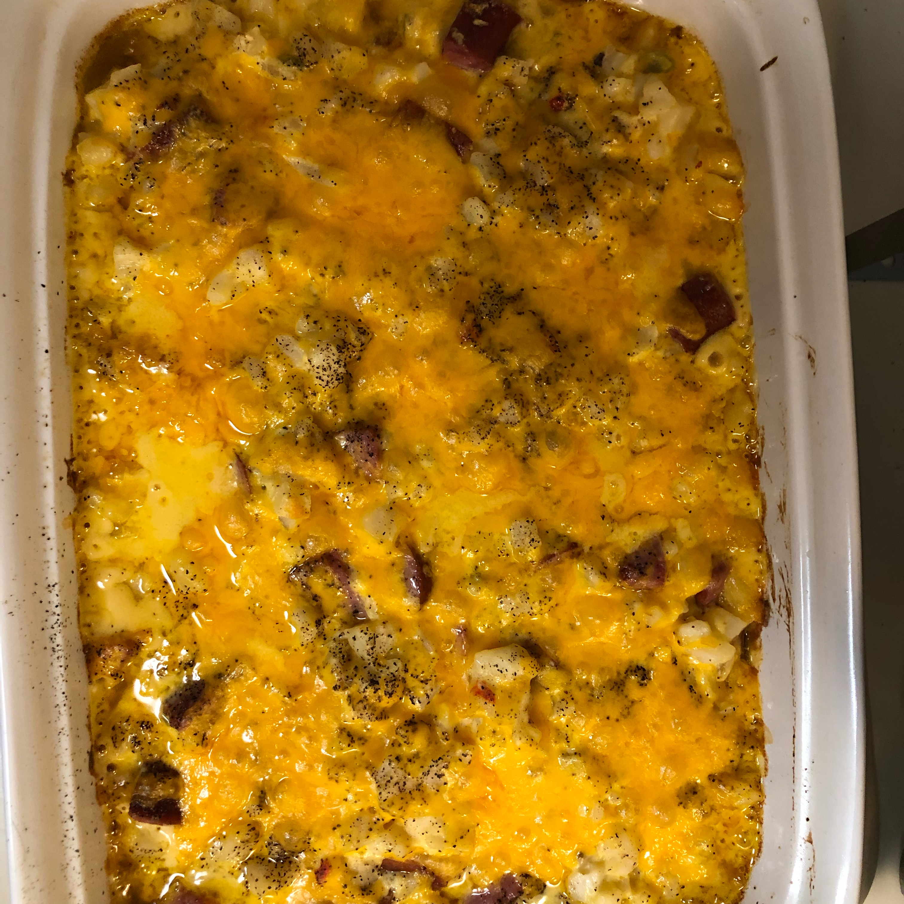 Cheesy Potatoes with Smoked Sausage