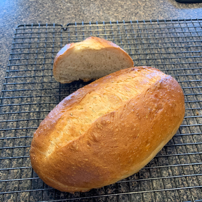 Italian Bread Baked on a Pizza Stone