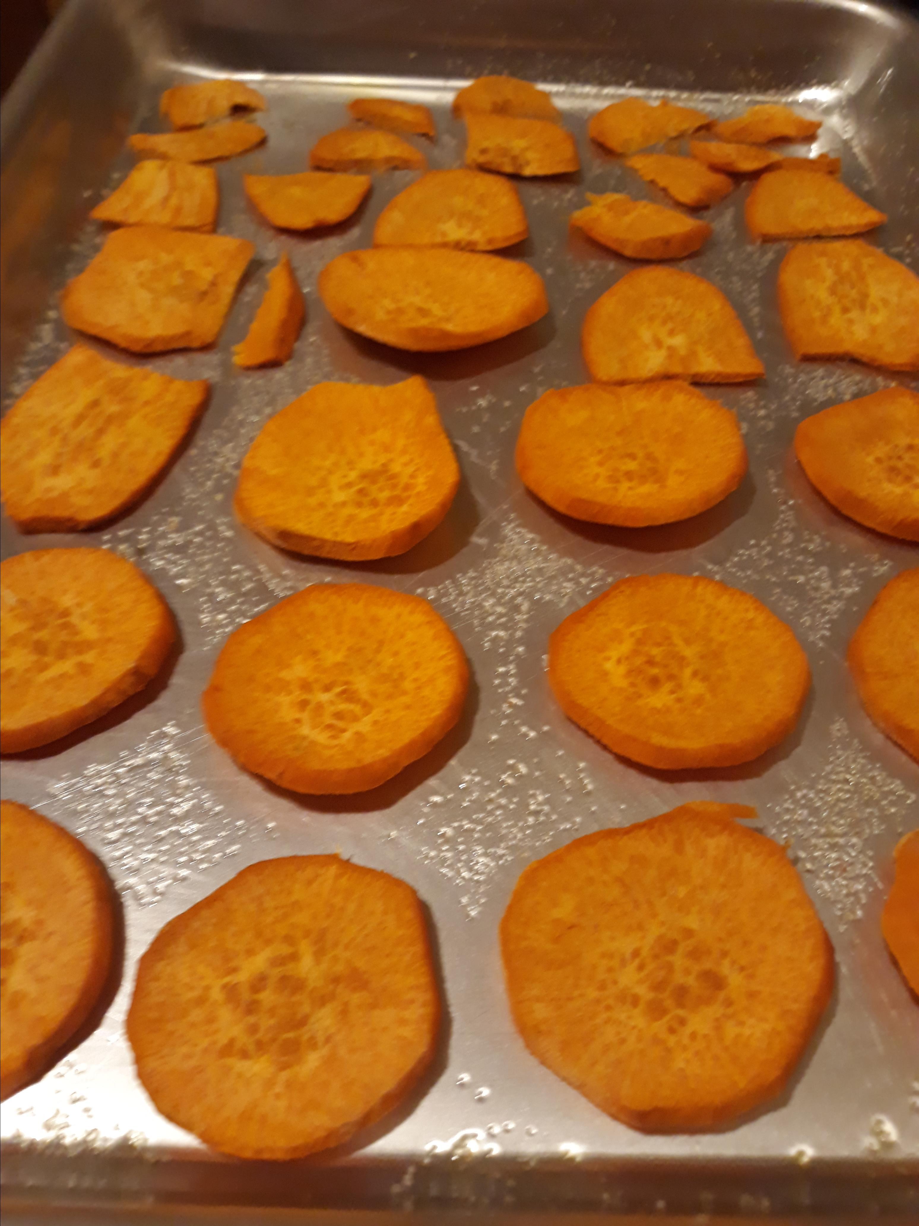 Baked Sweet Potato Coins CatsMeow