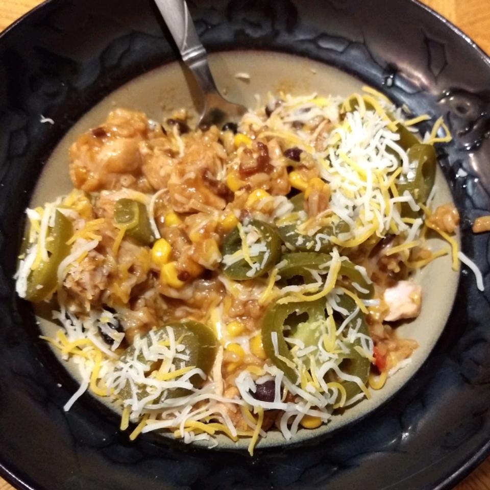Instant Pot® Chicken Burrito Bowl MrsXoke