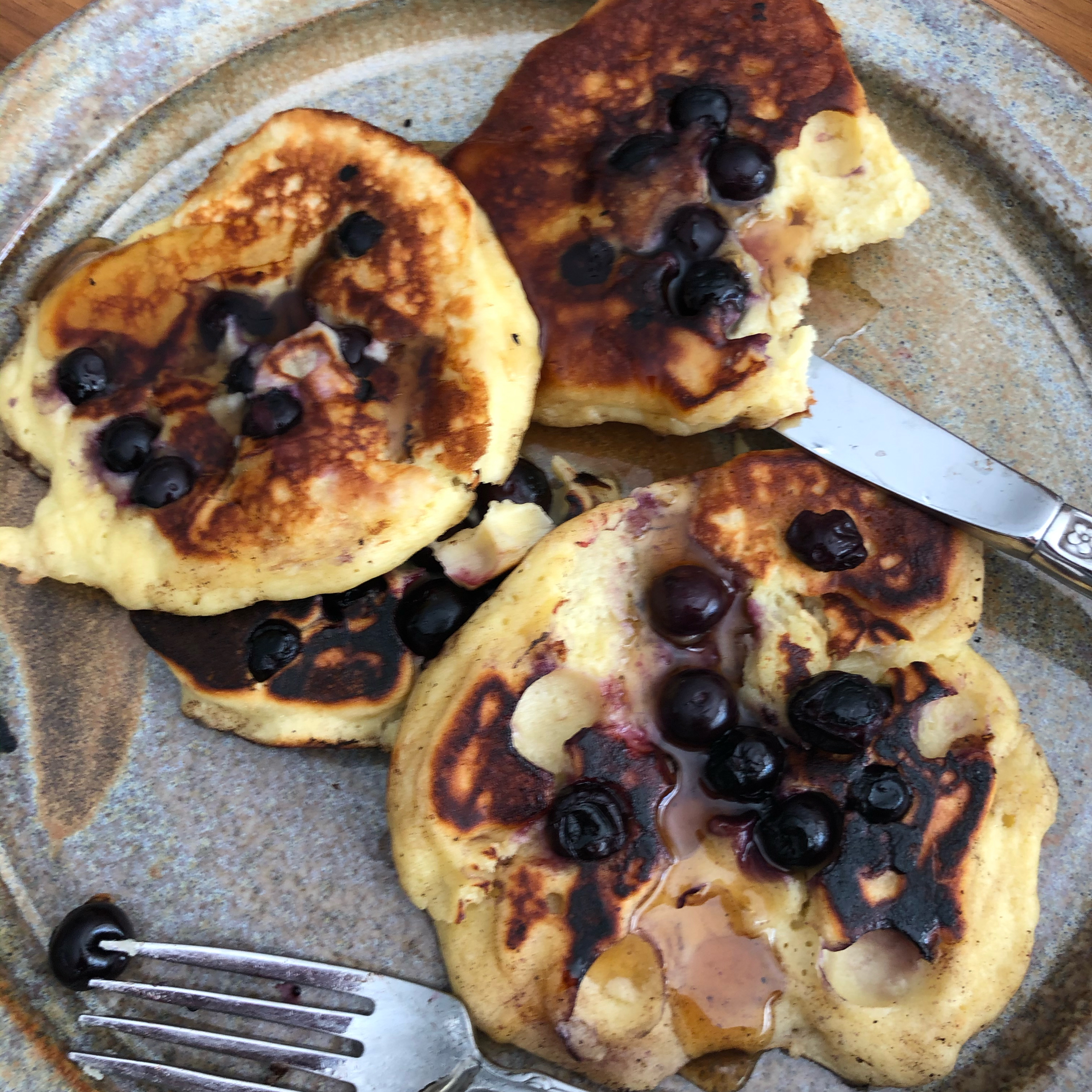 Blueberry Almond Pancakes itsgettinghotinhere