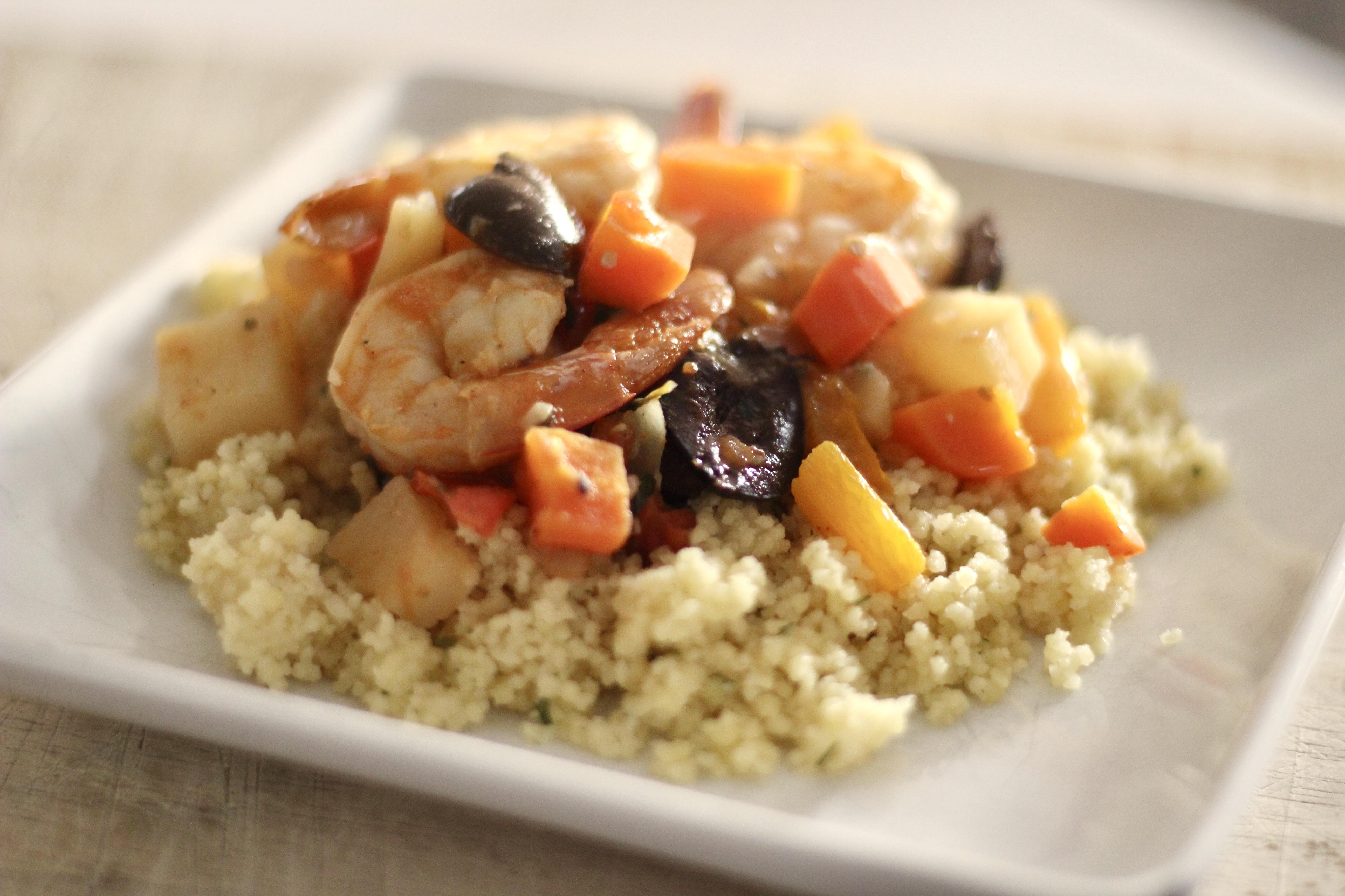 One-Pot Moroccan Shrimp Tagine SunnyDaysNora