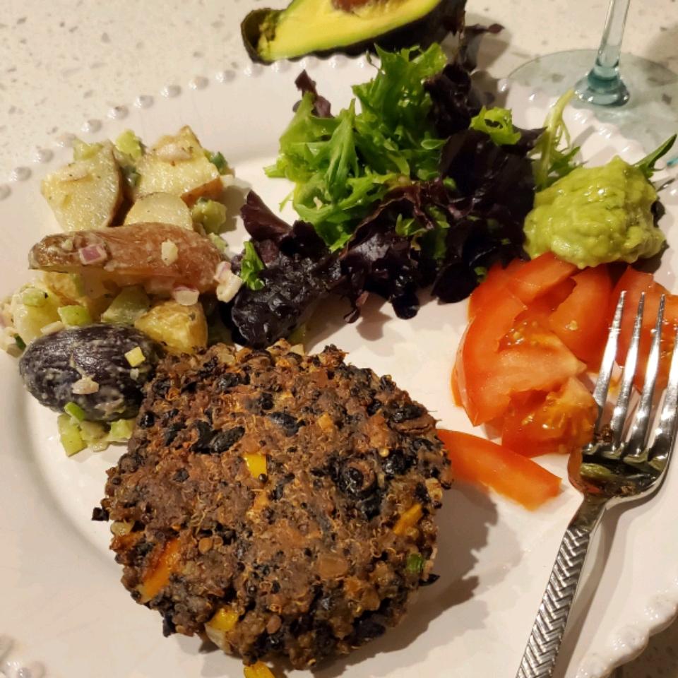 Black Bean Quinoa Veggie Burgers Treasea Johnson