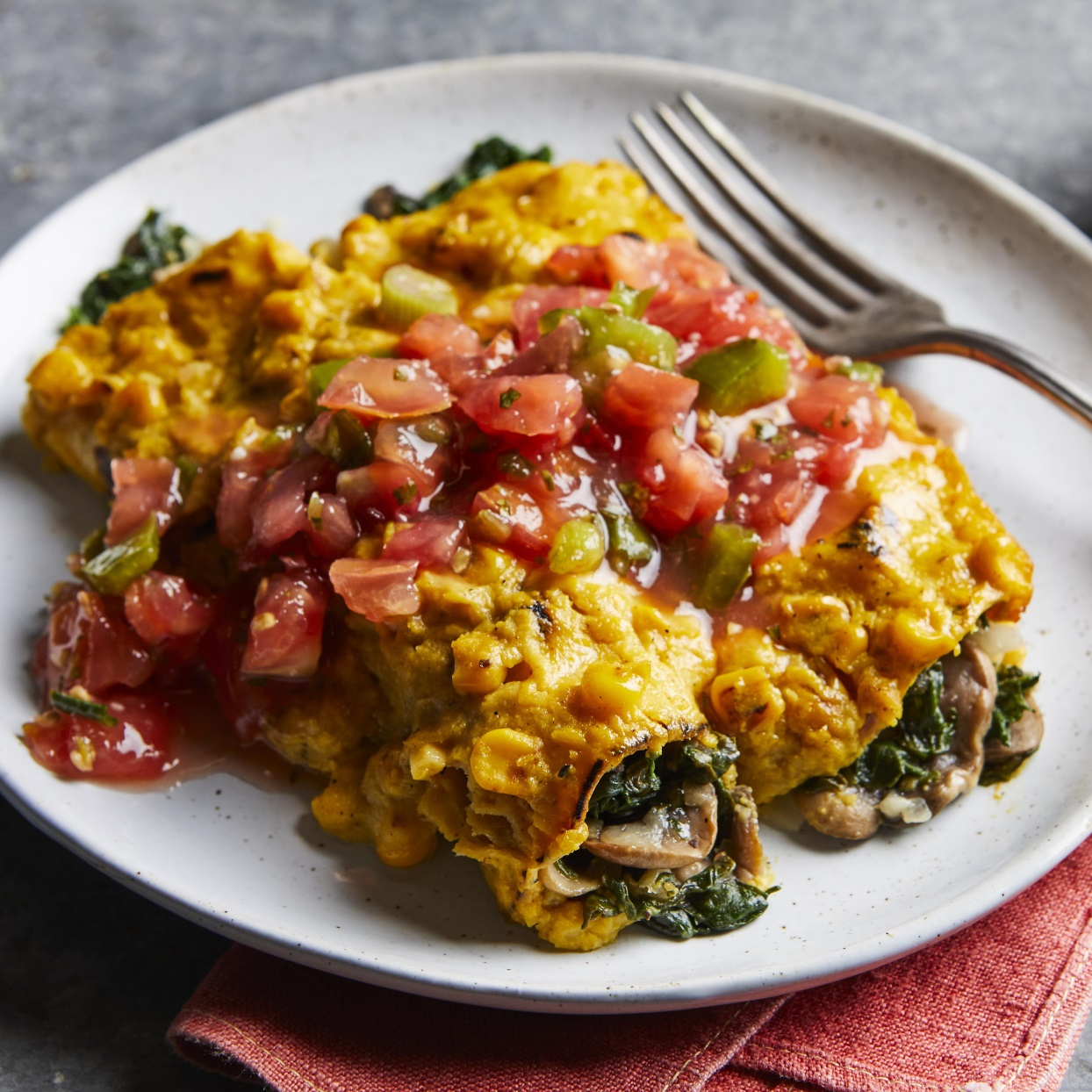 The secret to this creamy enchilada sauce is pureed toasted corn, enriched with roasted garlic.Source: EatingWell Magazine, May/June 1997