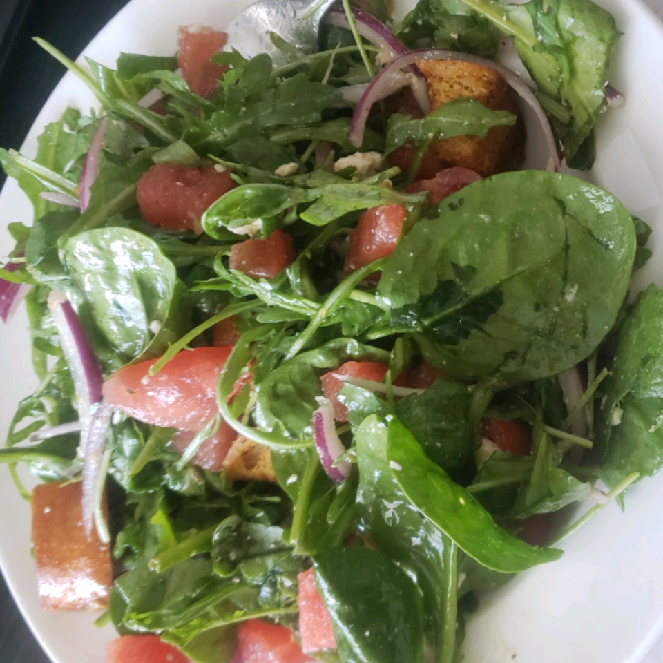 Watermelon and Feta Salad with Arugula and Spinach Ronnell Sampson